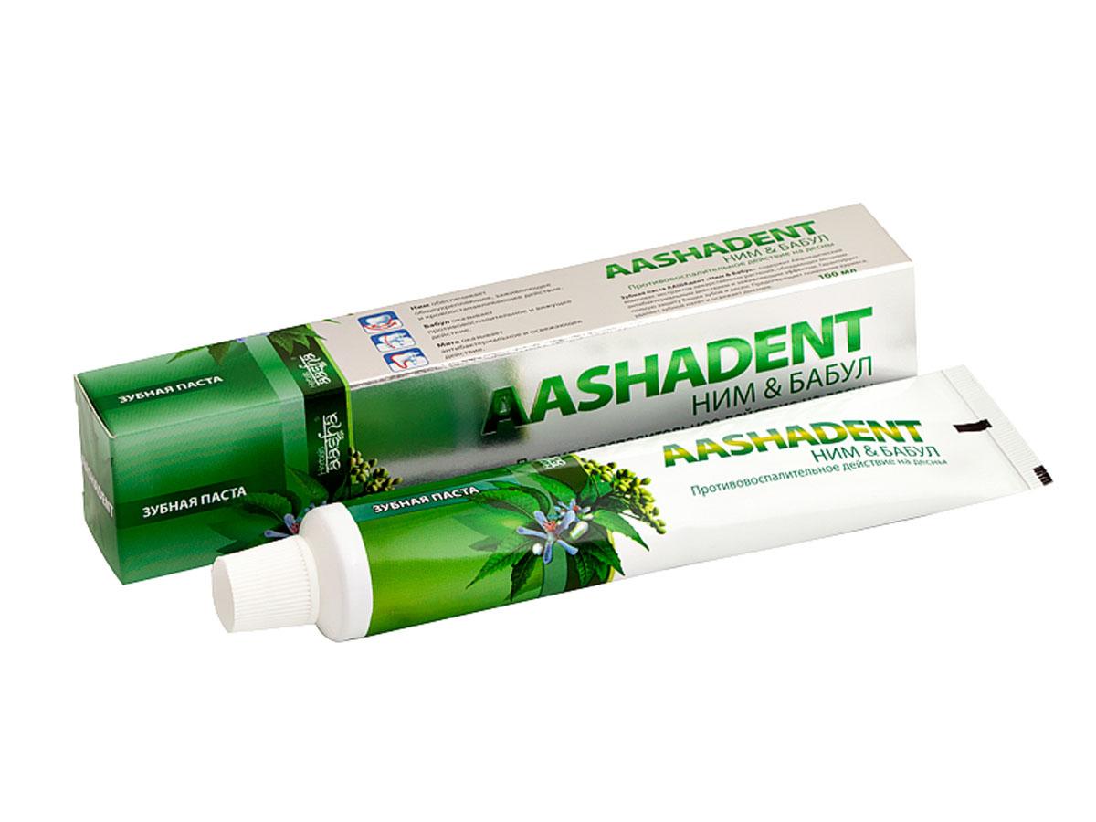 Aashadent Зубная паста Ним и Бабул, 100 млMP59.4DСпособствует отбеливанию зубной эмали, укрепляет десны, препятствует образованию зубного налета. Надолго устраняет неприятный запах и освежает дыхание. Рекомендуется для лечебной профилактики десен и слизистой оболочки рта