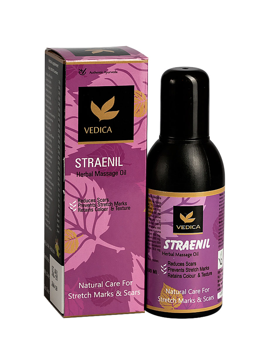 Vedica Масло от растяжек и рубцов, 100 млLBAКомпозиция натуральных растительных масел и экстрактов, обогащенная витамином Е, способствует устранению, растяжек во время беременности и при снижении веса, устраняет рубцы, следы ран, ожогов. Повышает эластичность кожи, тонизирует и предотвращает преждевременное старение кожи
