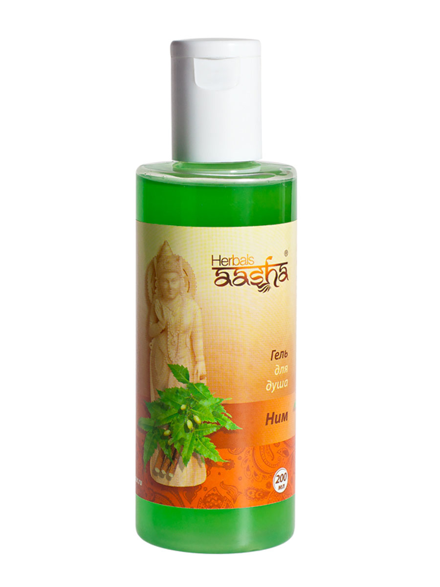 Aasha Herbals Гель для душа Ним, 200 млFS-00897Эффективное средство для бережного очищения кожи. Увлажняет и кондиционирует кожу, придает ей здоровый вид. Способствует восстановлению водного баланса. Для любого типа кожи, особенно, склонной к пересыханию.