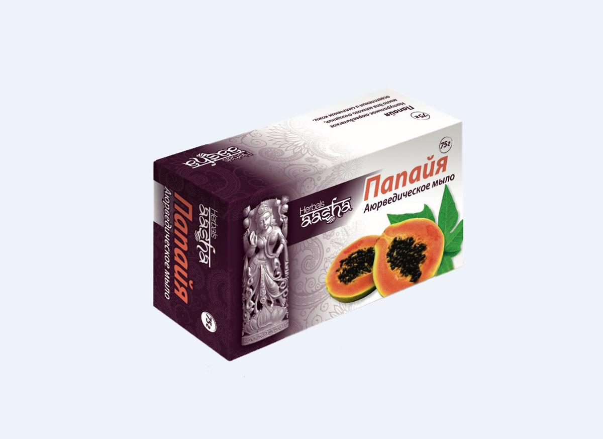 Aasha Herbals мыло твердое Папайя, 75 гSatin Hair 7 BR730MNМыло на основе мякоти папайи, обогащенного витамином Е. Папаин, содержащийся в мякоти папайи, снижает концентрацию меланина и способствует осветлению, отбеливанию кожи. Очищает кожу, обеспечивает мощную антиоксидантную защиту. Для раздраженной и чувствительной кожи.
