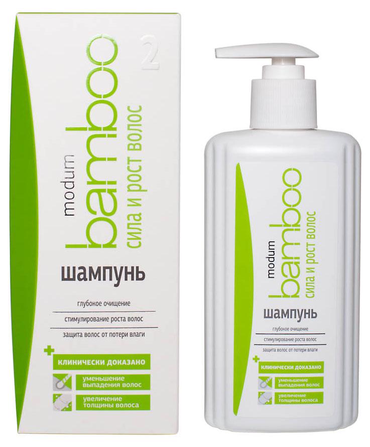 Modum Bamboo Шампунь Сила и Рост волос, 300 млFS-00897Шампунь содержит целый комплекс мягких моющих компонентов, обеспечивающих щадящее, но эффективное очищение. После применения шампуня волосы глубоко очищены: с кожи головы и прикорневой зоны удалены скопившиеся излишки работы сальных желез, остатки косметических, стайлинговых средств, бытовые загрязнения. Это тщательное, ощутимое очищение необходимо для обеспечения более эффективного воздействия активных ингредиентов, входящих в состав шампуня.Экстракты Женьшеня, Красного перца и Бамбука активно борются с выпадением волос за счет усиления микроциркуляции крови в верхних слоях эпидермиса кожи головы, улучшая питание волосяных луковиц, продлевая стадию активного роста волос. Гидролизованный коллаген и протеины риса восстанавливают поврежденную структуру волос, приглаживая чешуйки кутикулы стержня волоса, формируя на волосах защитную пленку. Протеины риса и D-пантенол способствуют поддержанию достаточного уровня увлажненности волос, делая волос более эластичным и крепким, предотвращая его слоистость и сечение.Шампунь содержит так же специальные кондиционирующие добавки, усиливающие мягкость и легкость расчесывания волос. Активный компонент Lamesoft PO 65 поддерживает целостность гидро-липидной мантии даже при частом мытье