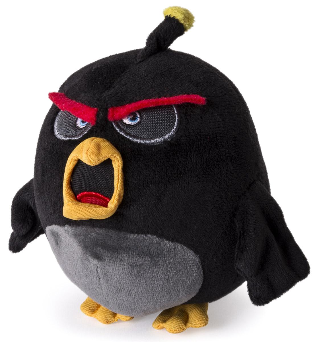 Angry Birds Мягкая игрушка Птица Bomb 13 см angry birds мяг игр 20см желтая птица и игрушка подвеска с клипом 7см