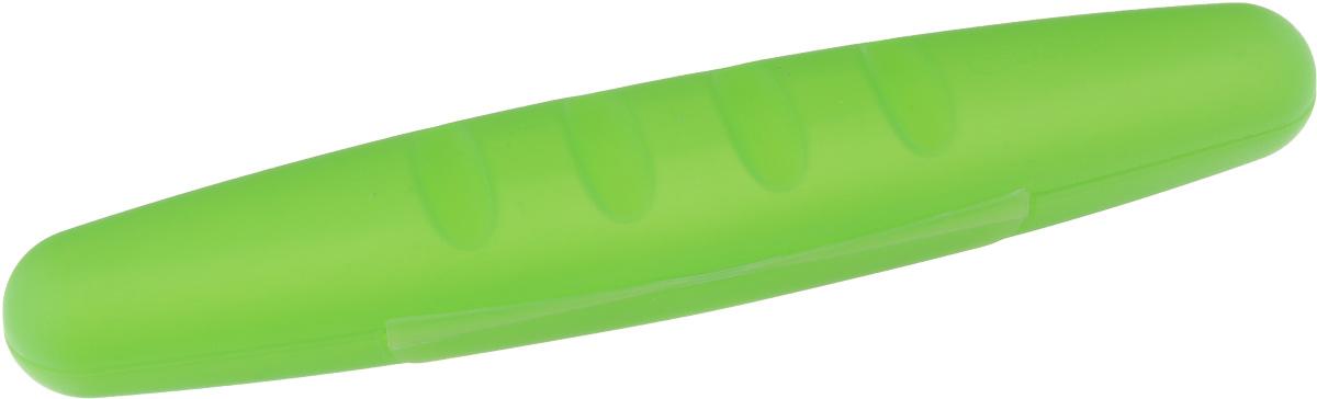 Футляр для зубных принадлежностей Voyage, цвет: киви, 20,5 х 4 х 3,5 см13296Защитный футляр Voyage, изготовленный из высококачественного цветного пластика, предназначен для сохранения в чистоте зубных щеток во время путешествий.