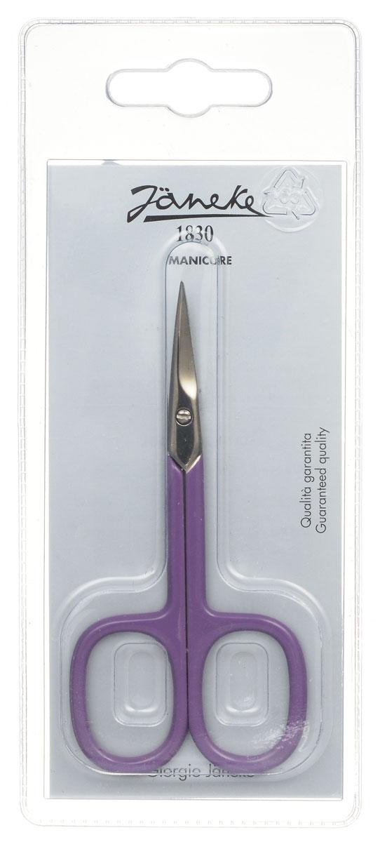 Janeke Ножницы маникюрные, закругленные, цвет: фиолетовый. MP118CFA-8116-1 White/pinkМаникюрные ножницы Janeke изготовлены из высококачественного металла и предназначены как для домашнего использования, так и в области профессионального маникюра.Лезвия плотно сходятся, режут точно и с минимумом усилий. Товар сертифицирован.