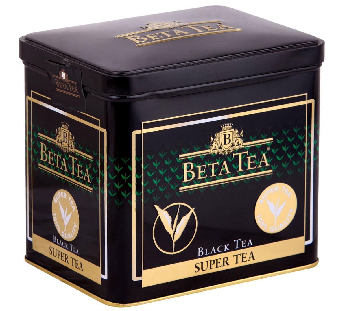 Beta Tea Super Tea черный листовой чай с бергамотом, 250 г0120710Мелколистовой чай Beta Tea Super Tea с лучших плантаций Цейлона подарит вам блаженство и умиротворение. Насладитесь крепостью и ароматом этого изящного сорта чая.