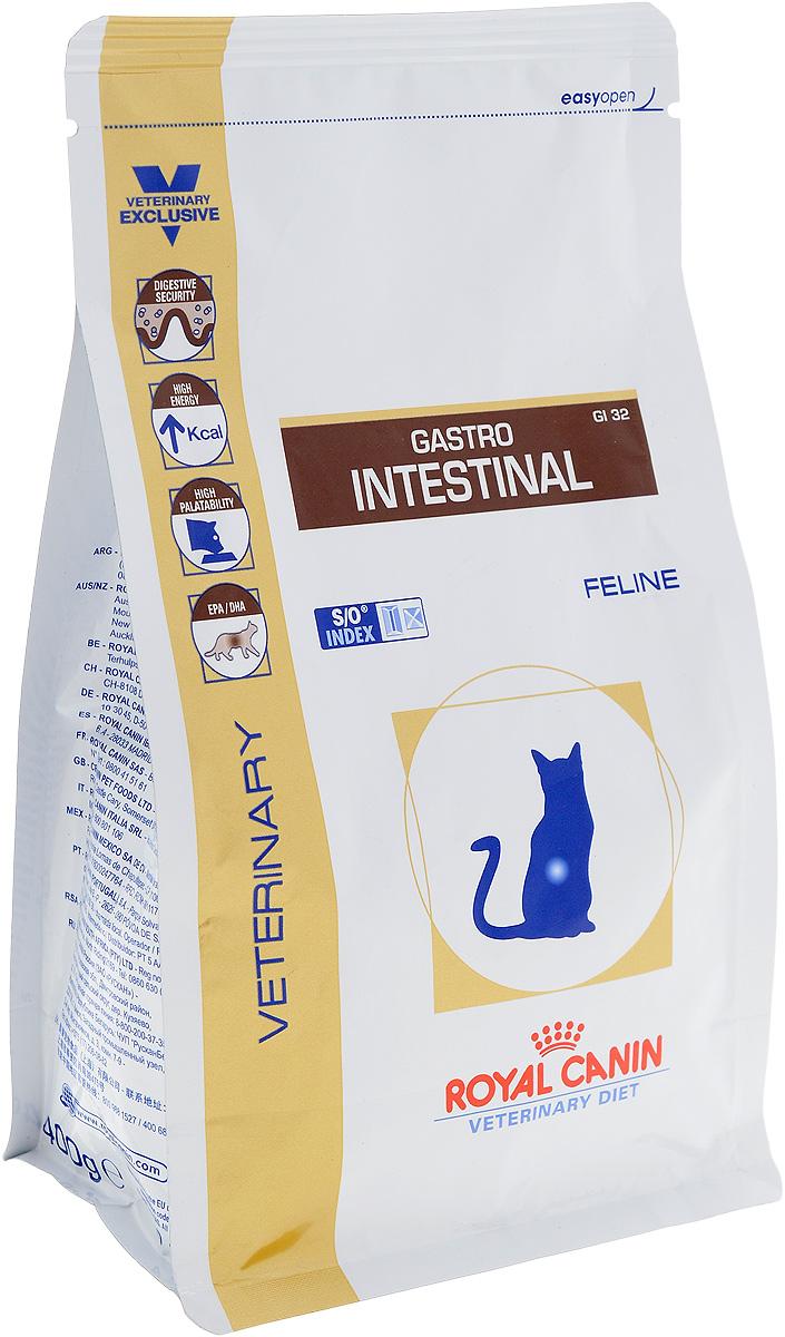 Корм сухой диетический Royal Canin Gastro Intestinal GL32 для кошек, при нарушениях пищеварения, 400 г0120710Royal Canin Gastro Intestinal GL32 - это полнорационный диетический корм для кошек, рекомендуемый при острых расстройствах пищеварения, в реабилитационный период и при истощении. Показания к применению:- острая и хроническая диарея;- плохая переваримость и абсорбция питательных веществ;- пролиферация бактерий в тонком кишечнике;- восстановительный период после болезни;- колит;- Заболевания печени (кроме печеночной энцефалопатии); - Анорексия; - гастрит.Противопоказания:- Печеночная энцефалопатия;- лимфангиэктазия - экссудативная энтеропатия;- панкреатит.Длительность курса применения. Для усиления регенераторной способности ворсинчатого эпителия стенки кишечника при остром воспалительном процессе рекомендуется диетотерапия с минимальным сроком три недели. При хронических заболеваниях может потребоваться назначение диетического корма на протяжении всей жизни животного. Для оптимальной работы пищеварительной системы необходимо соблюдение суточного рациона и увеличение его кратности. Безопасность пищеварительной системы. Сочетание высокоусвояемых белков, пребиотиков, клетчатки и рыбьего жира обеспечивает максимальную защиту пищеварительной системы. Умеренное содержание энергии.Повышенное содержание энергии соответствует энергетическим потребностям кошки, позволяет ограничить объем корма и снизить нагрузку на желудочно-кишечный тракт.Повышенная вкусовая привлекательность При нарушениях пищеварения часто наблюдаются плохой аппетит и потеря веса. Высокая вкусовая привлекательность стимулирует потребление корма и способствует выздоровлению. Длинноцепочечные жирные кислоты Омега 3 (эйкозапентаеновая и докозагексаеновая) уменьшают кожные реакции и обеспечивают целостность слизистой оболочки кишечника. Белки с высокой степенью усвояемости снижают интенсивность чрезмерной ферментации в толстом отделе кишечника. Маннановые олигосахариды (МОС) стимулируют местный иммунитет