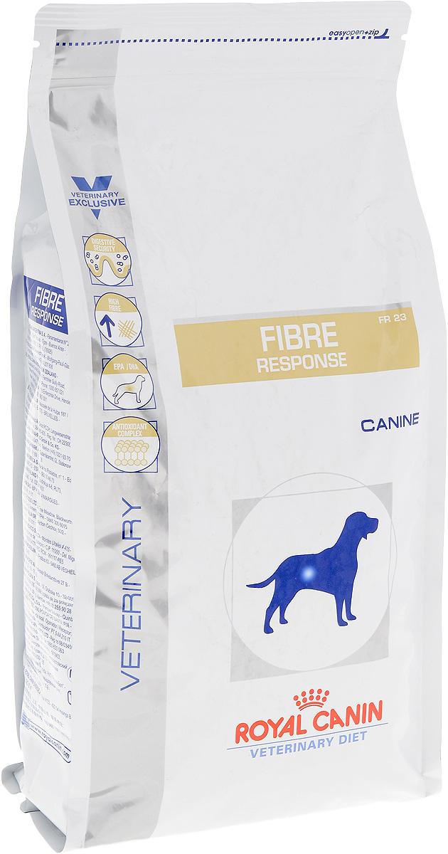 Корм сухой диетический Royal Canin Fibre Response FR 23 для собак, при нарушении пищеварения, 2 кг0120710Сухой корм для взрослых собак Royal Canin Fibre Response FR 23 - полноценный диетический рацион с повышенным содержанием клетчатки, рекомендуемый при нарушении пищеварения.Показания к применению:- колит (форма, поддающаяся диетотерапии с повышенным содержанием клетчатки);- стрессовая диарея;- запор;- нарушения, при которых рекомендована диета с повышенным содержанием клетчатки.Противопоказания:- кишечная непроходимость;- расширение толстого кишечника (мегаколон).Длительность курса применения:Длительность применения диеты варьируется в зависимости от тяжести симптомов нарушения пищеварения.Суточную норму кормления рекомендуется разделить на две порции.Состав: рис, растительная клетчатка, дегидратированное мясо птицы, животные жиры, кукуруза, кукурузная клейковина, пшеница, гидролизат белков животного происхождения, минеральные вещества, дегидратированные белки животного происхождения (свинина), пшеничная клейковина, свекольный жом, соевое масло, рыбий жир, дрожжи, оболочка и семена подорожника, фруктоолигосахариды (ФОС), гидролизат дрожжей (источник маннановых олигосахаридов), яичный порошок, экстракт бархатцев прямостоячих (источник лютеина).Добавки (на 1 кг): витамин А: 11300 МЕ, витамин D3: 1000 МЕ, железо: 42 мг, йод: 3,3 мг, медь: 8 мг, марганец: 55 мг, цинк: 180 мг, селен: 0,08 мг.Содержание питательных веществ: белки: 23%, жиры: 16, минеральные вещества: 7,3%, клетчатка пищевая: 11,1%, в 1 кг: EPA/DHA: 3 г, медь: 15 мг.Товар сертифицирован.