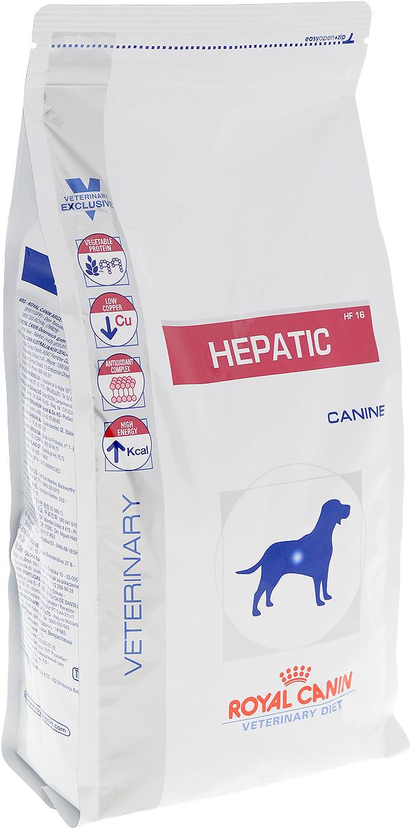 Корм сухой диетический Royal Canin Hepatic HF 16 для собак, при заболеваниях печени, 1,5 кг0120710Сухой корм Royal Canin Hepatic HF 16 - полноценный диетический рацион для взрослых собак, предназначенный для поддержания функции печени при хронической печеночной недостаточности и при избыточном накоплении меди в печени.Показания к применению:- болезни печени;- хронический гепатит;- порто-кавальное шунтирование;- печеночная энцефалопатия;- печеночная недостаточность;- нарушения метаболизма меди;- пироплазмоз.Противопоказания:- беременность, лактация, рост;- панкреатит (в том числе перенесенный ранее);- гиперлипидемия.Длительность курса применения:Длительность диетотерапии зависит от вида патологии и способности к регенерации тканей печени.При хронических заболеваниях возникает необходимость применения диеты в течение всей жизни собаки.Животное не должно переедать: распределение рациона на несколько порций способствует снижению нагрузки на печень.Суточную норму кормления рекомендуется разделить не менее чем на две порции.Состав: рис, кукуруза, животные жиры, изолят белка сои, гидролизат белков животного происхождения, свекольный жом, минеральные вещества, соевое масло, растительная клетчатка, рыбий жир, фруктоолигосахариды, экстракт бархатцев прямостоячих (источник лютеина).Добавки (на 1 кг): витамин А: 11600 МЕ, витамин D3: 1000 МЕ, железо: 115 мг, йод: 4,3 мг, марганец: 53 мг, цинк: 212 мг, селен: 0,38 мг, консервант: сорбат калия, антиокислители: (пропилгаллат, БГА).Содержание питательных веществ: белки: 16%, жиры: 16%, минеральные вещества: 4,7%, клетчатка пищевая: 2%, основные жирные кислоты: 43 g/kg, медь (всего): 5 мг/кг, натрий: 0,2%, калий: 0,9%, усвояемая энергия: 4043 ккал/кг.Товар сертифицирован.