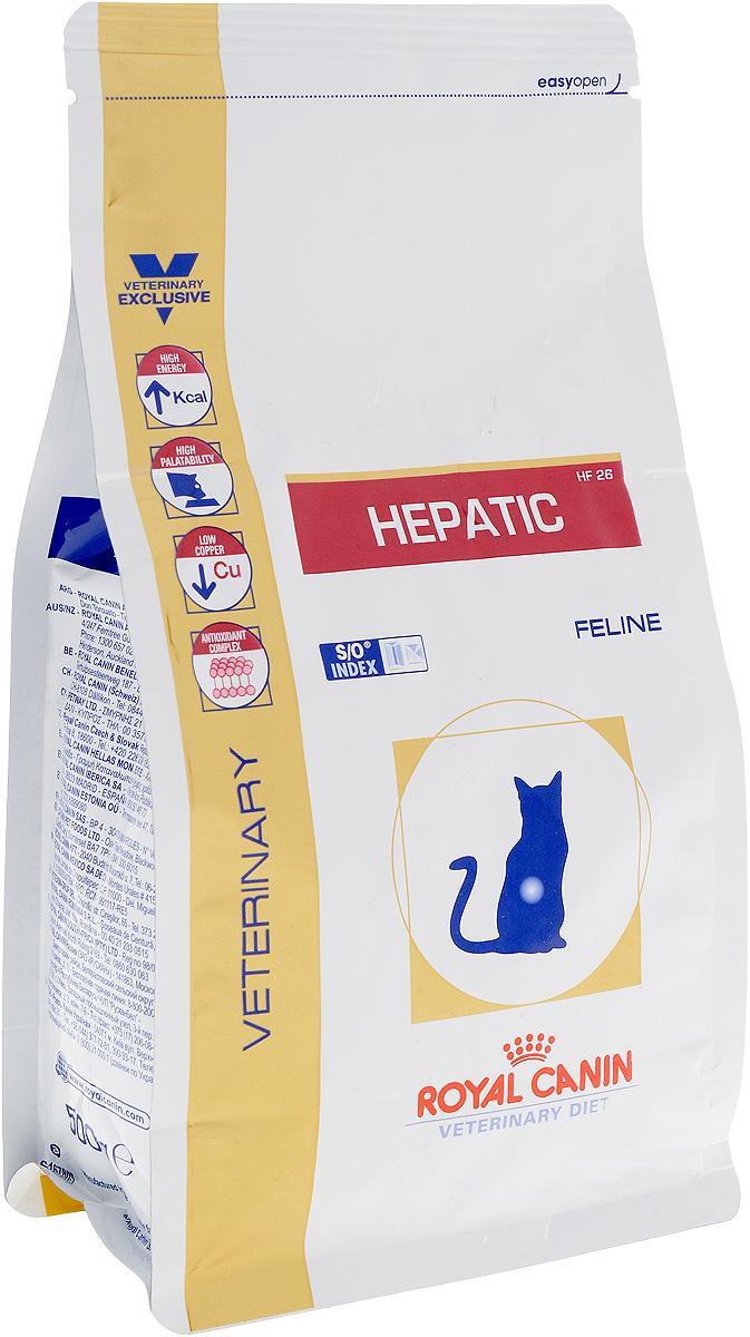 Корм сухой диетический Royal Canin Hepatic HF 26 для кошек, при заболевании печени, 500 г101246Сухой диетический корм Royal Canin Hepatic HF 26 - это полнорационная ветеринарная диета для кошек при следующих показаниях:Холангит (холангиогепатит). Холестаз. Портокавальный анастамоз. Печеночная энцефалопатия. Печеночная недостаточность. Нарушения метаболизма меди. Противопоказания:Беременность, лактация. Гиперлипидемия. Липидоз печени кошек (за исключением случаев, при которых проявляется печеночная энцефалопатия). Длительность курса применения: Длительность диетотерапии зависит от вида патологии. Начальный курс применения диетотерапии составляет 6 месяцев, но при хронических заболеваниях возникает необходимость применения диеты в течение всей жизни кошки. Животное не должно переедать: распределение рациона на несколько порций способствует снижению нагрузки на печень. Повышенное содержание энергии соответствует энергетическим потребностям кошки, позволяет ограничить объем порций корма и снизить нагрузку на желудочно-кишечный тракт.У кошек с заболеваниями печени часто наблюдаются плохой аппетит и потеря веса. Высокая вкусовая привлекательность стимулирует потребление корма и способствует выздоровлению.Низкое содержание меди лимитирует её кумулятивный эффект в клетках печени и интрацеллюлярное нарушение в случае холестаза.Комплекс антиоксидантов синергичного действия снижает уровень окислительного стресса и борется со свободными радикалами.Полезная информация: Корм Royal Canin Hepatic HF 26 выполняет следующие важные функции при заболеваниях печени у кошек: Рецептура корма соответствует физиологическим потребностям кошки при патологии печени (высокий уровень энергии, оптимальный уровень белков, адаптированные уровни минеральных веществ и витаминов). Поддержка регенерации гепатоцитов (белки с высокой степенью усвояемости, L-карнитин). Сведение к минимуму повреждений паренхимы печени (ограниченное содержание меди, цинка, антиоксиданты). Сведение к минимуму осложнений в ви