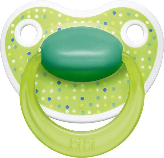 Bibi Пустышка силиконовая Premium Dental от 0 до 6 месяцев цвет зеленый -  Все для детского кормления