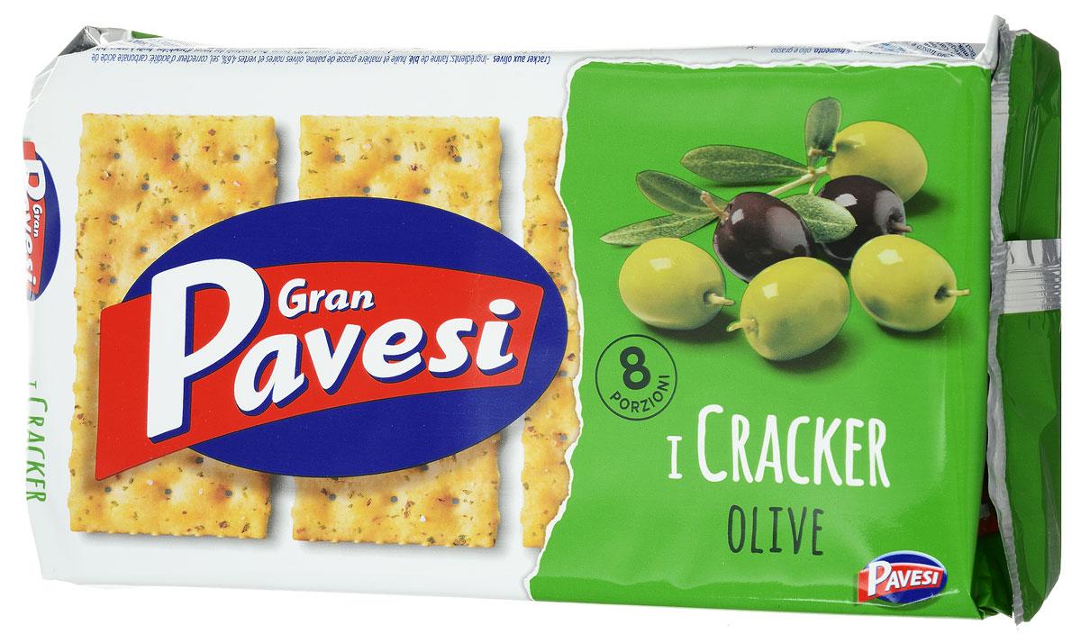 Gran Pavesi Cracker Olive крекер с оливками, 250 г8013355998535Gran Pavesi Cracker Olive - классический легкий соленый крекер с уникальной структурой и насыщенным вкусом Средиземноморья, приготовленный по традиционным итальянским рецептам на основе высококачественных и натуральных ингредиентах. Без гидрогенизированных жиров, консервантов и красителей.