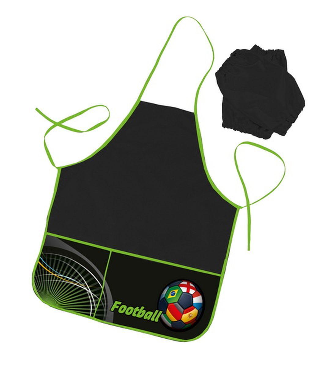 Hatber Фартук для труда с двумя карманами Football72523WDУдобный фартук с ярким стильным дизайном для занятий трудом и творчеством. Водоотталкивающая ткань надёжно защитит одежду ребёнка от возможных загрязнений. Поставляются с нарукавниками