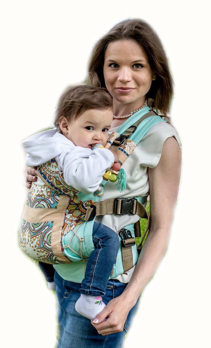 Мамарада Эрго рюкзак Этно светлая бирюза размер 42-54 -  Рюкзаки, слинги, кенгуру