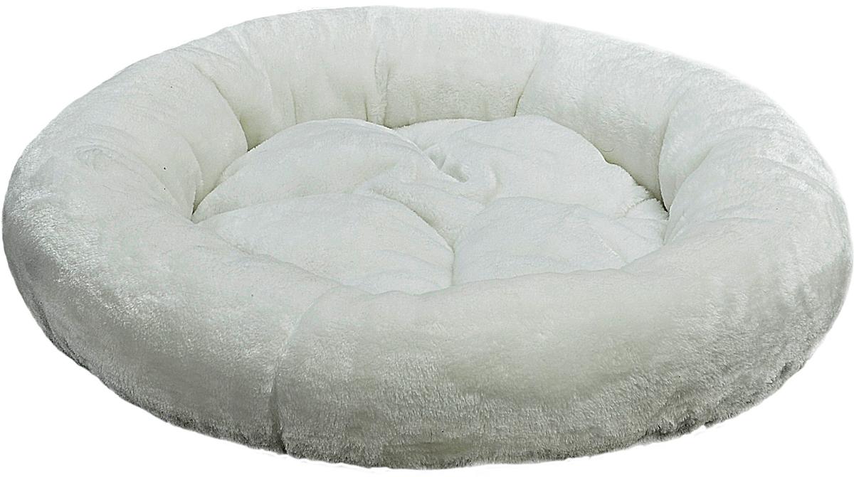 Лежак для животных Зооник, цвет: белый, 48 х 48 х 15 см0120710Круглый лежак Зооник непременно станет любимым местом отдыха вашего домашнего животного. Изделие выполнено из высококачественного велюра, а наполнитель - из синтепона. Такой материал не теряет своей формы долгое время. На таком лежаке вашему любимцу будет мягко и тепло. Он подарит вашему питомцу ощущение уюта и уединенности.