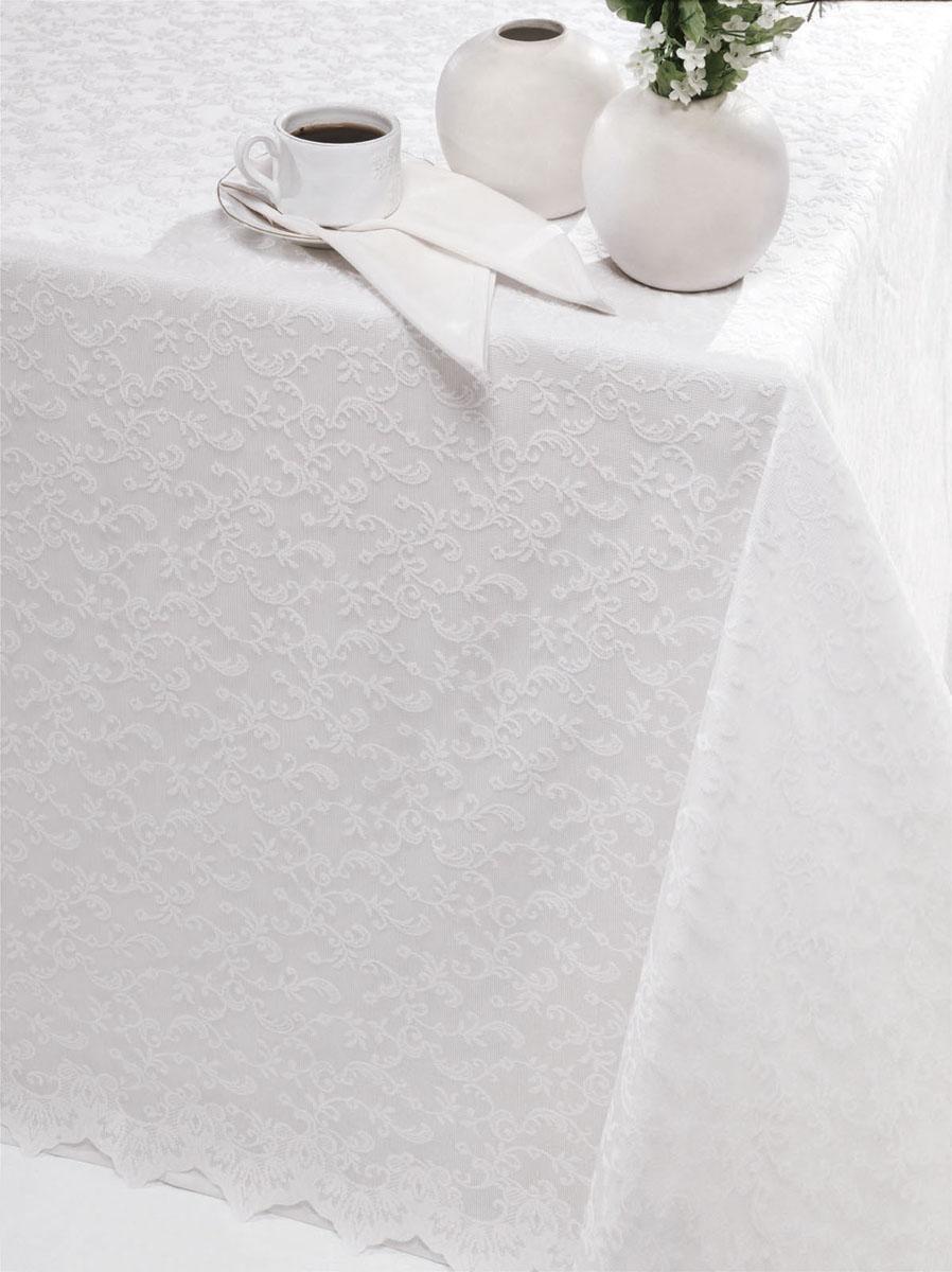 Скатерть Issimo Home Simona, прямоугльная, 160 x 220 смSVC-300Скатерти ISSIMO - это настоящий шедевр текстильной индустрии! Мягкие, переливающиеся оттенки, разнообразные варианты жаккарда, невероятно износоустойчивые и легкие в уходе ткани - все это позволит скатертям стать Вашим незаменимым помощником на кухне! Они не только украсят любую кухню или гостиную, но и станут прекрасным подарком на любые случаи жизни!