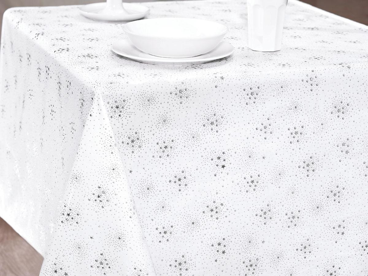 Скатерть Issimo Home Sansa, прямоугольная, цвет: серебряный, 150 x 250 смK100Скатерти ISSIMO - это настоящий шедевр текстильной индустрии! Мягкие, переливающиеся оттенки, разнообразные варианты жаккарда, невероятно износоустойчивые и легкие в уходе ткани - все это позволит скатертям стать вашим незаменимым помощником на кухне! Они не только украсят любую кухню или гостиную, но и станут прекрасным подарком на любые случаи жизни!