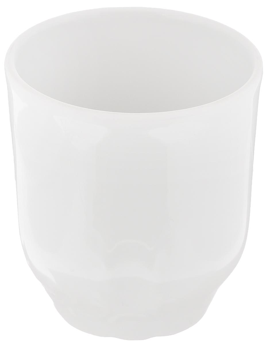 Стакан Белье, 220 млVT-1520(SR)Высокий стакан Белье изготовлен из высококачественного фарфора, оформленного рельефом с внешней стороны. Такой стакан отлично дополнит вашу коллекцию кухонной утвари и порадует вас ярким необычным дизайном и практичностью. Диаметр стакана (по верхнему краю): 7,4 см. Высота стакана: 8 см.