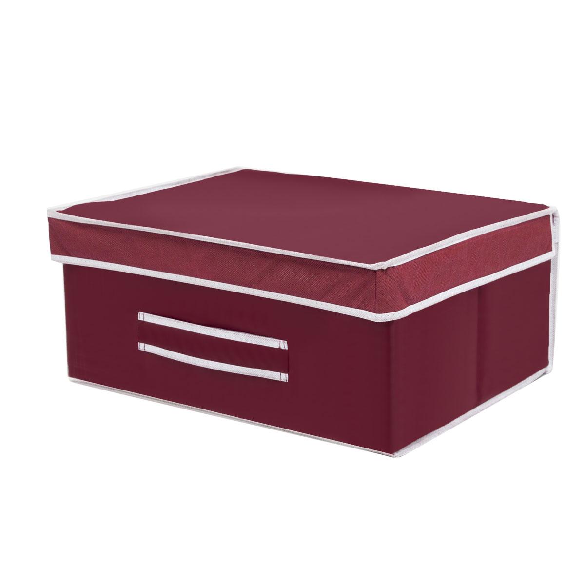 Коробка для хранения Homsu Red Rose, 45 х 37 х 20 см12723Вместительная коробка для хранения Homsu Red Rose выполнена из плотного картона. Изделие обладает удобным размером и привлекательным дизайном, выполненным в приятной цветовой гамме. Внутри коробки можно хранить фотографии, ткани, принадлежности для хобби, памятные сувениры и многое другое. Крышка изделия удобно открывается и закрывается.Коробка для хранения Homsu Red Rose станет незаменимой помощницей в путешествиях.
