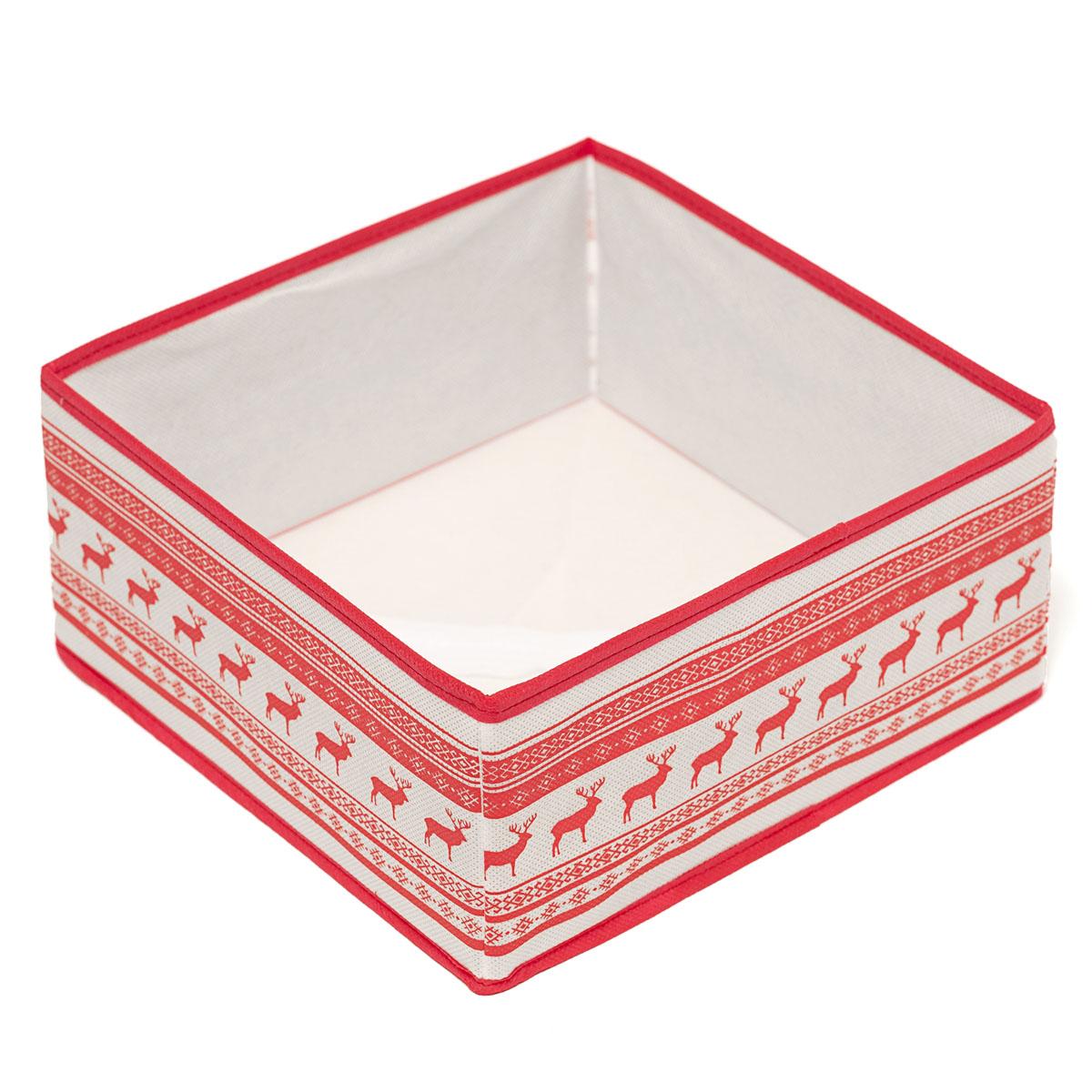 Кофр для хранения Homsu Scandinavia, 28 х 28 х 13 см74-0120Кофр для хранения Homsu Scandinavia изготовлен из высококачественного нетканого полотна и декорирован красочным изображением. Кофр имеет одно большое отделение, где вы можете хранить различные бытовые вещи, нижнее белье, одежду и многое другое. Вставки из картона обеспечивают прочность конструкции. Стильный принт, модный цвет и качество исполнения сделают такой кофр незаменимым для хранения ваших вещей.