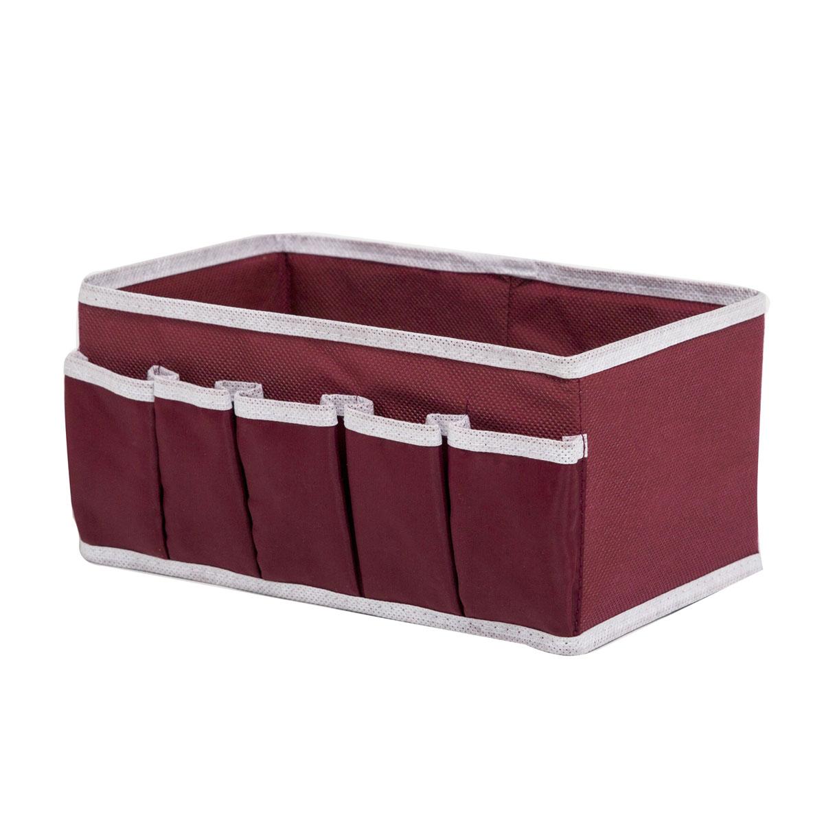 Органайзер для хранения косметики и мелочей Homsu Red Rose, 25 х 15 х 12 смHOM-15Органайзер Homsu Red Rose выполнен из полиэстера и предназначена для хранения вещей. Изделие защитит вещи от повреждений, пыли, влаги и загрязнений во время хранения и транспортировки. Органайзер идеально подходит для хранения детских вещей и игрушек. Жесткий каркас из плотного толстого картона обеспечивает устойчивость конструкции. Размер: 25 х 15 х 12 см.