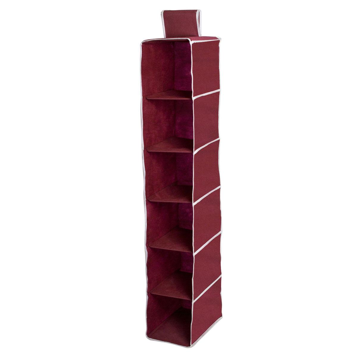 Органайзер подвесной Homsu Red Rose, 6 полок, 30 х 20 х 120 см74-0120Подвесной органайзер Homsu Red Rose выполнен из прочного полиэстера - материала, который отличается прочностью, водоотталкивающими свойствами и практичностью. Изделие имеет 6 полок для хранения различных предметов, в том числе одежды, детских игрушек. Органайзер подвешивается к карнизу, рейлингу, стальным трубам и крепежам с помощью специальной петли. Размер полки: 30 х 20 см.
