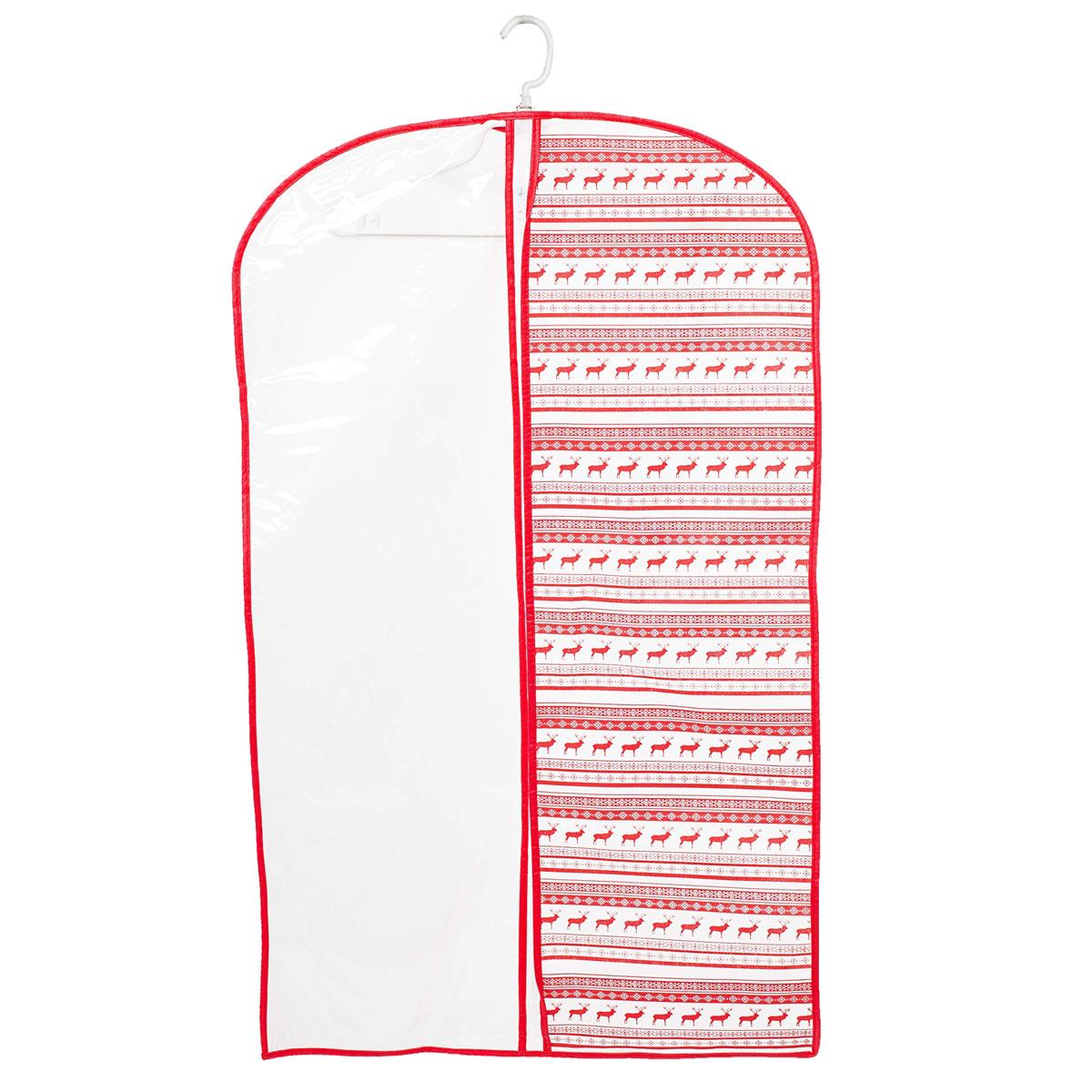 Чехол для одежды Homsu Scandinavia, подвесной, с прозрачной вставкой, 100 х 60 смS03301004Подвесной чехол для одежды Homsu Scandinavia на застежке-молнии выполнен из высококачественного нетканого материала. Чехол снабжен прозрачной вставкой из ПВХ, что позволяет легко просматривать содержимое. Изделие подходит для длительного хранения вещей.Чехол обеспечит вашей одежде надежную защиту от влажности, повреждений и грязи при транспортировке, от запыления при хранении и проникновения моли. Чехол позволяет воздуху свободно поступать внутрь вещей, обеспечивая их кондиционирование. Это особенно важно при хранении кожаных и меховых изделий.Чехол для одежды Homsu Scandinavia создаст уютную атмосферу в гардеробе. Лаконичный дизайн придется по вкусу ценительницам эстетичного хранения и сделают вашу гардеробную изысканной и невероятно стильной.Размер чехла: 100 х 60 см.
