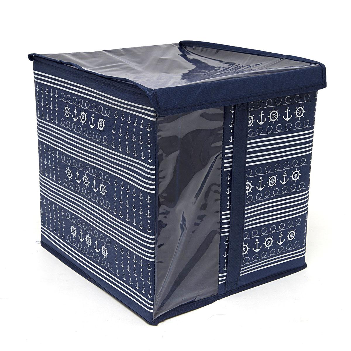 Кофр для хранения Homsu Ocean, с крышкой, 30 х 30 х 32 см6113MКофр для хранения Homsu Ocean изготовлен из высококачественного нетканого полотна и ПВХ. Кофр имеет одно большое отделение, где вы можете хранить различные бытовые вещи, нижнее белье, одежду и многое другое. Вставки из картона обеспечивают прочность конструкции. Стильный принт, модный цвет и качество исполнения сделают такой кофр незаменимым для хранения ваших вещей.