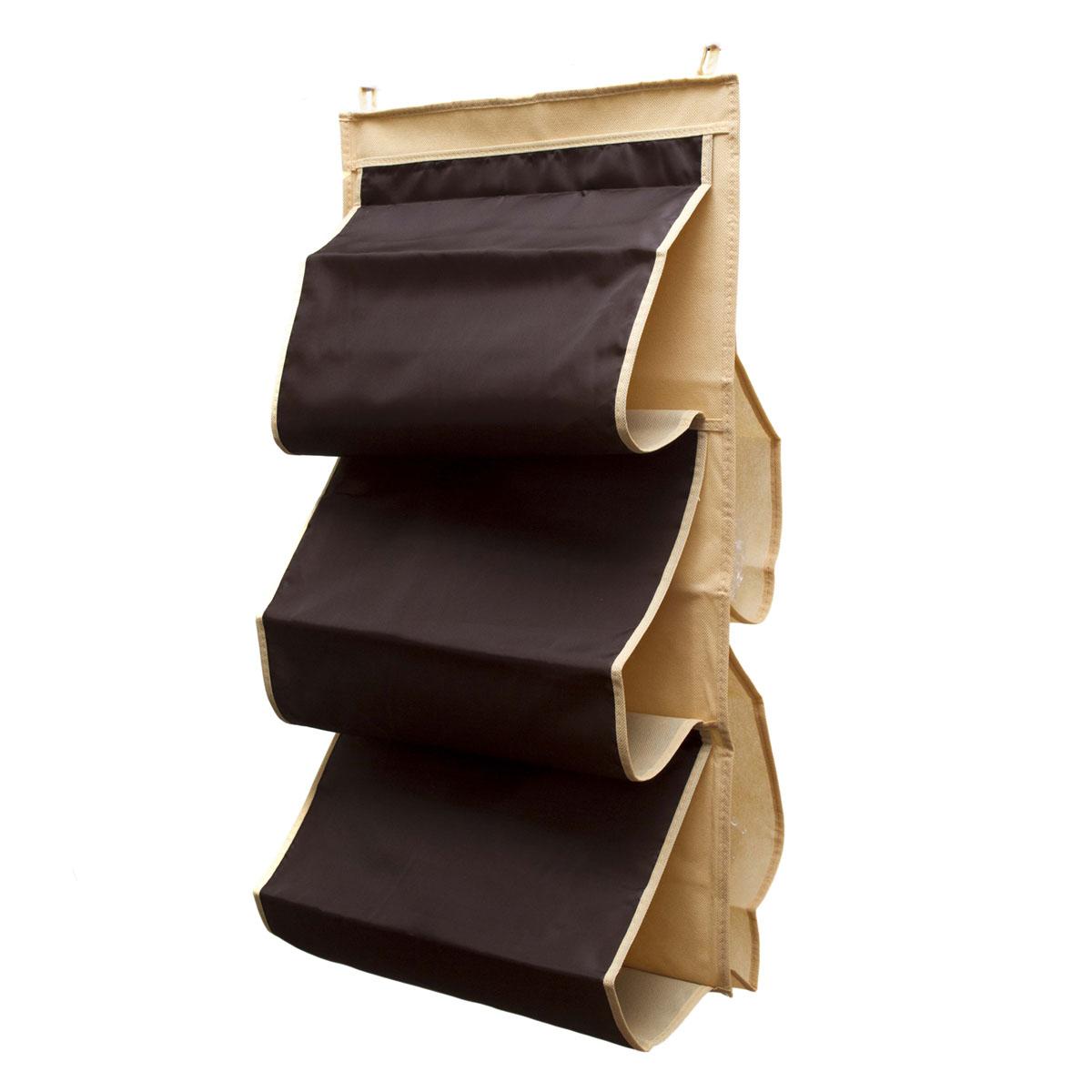 Органайзер для сумок Homsu Costa-Rica, 5 отделений, 40 х 70 смRG-D31SОрганайзер для хранения сумок Homsu Costa-Rica изготовлен из полиэстера. Изделие имеет 5 отделений, его можно повесить в удобное место за крючки. Такой компактный и удобный в каждодневном использовании аксессуар, как этот органайзер, размещающийся в пространстве шкафа, на плоскости стены или дверей.Практичный и удобный органайзер для хранения сумок.Размер чехла: 40 х 70 см.