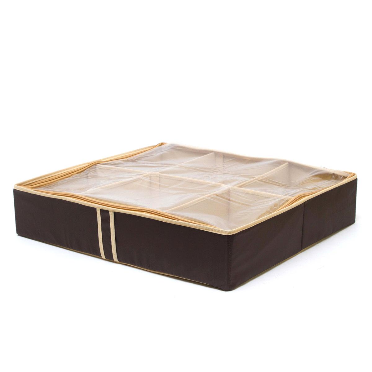 Органайзер для хранения обуви Homsu Costa-Rica, 6 секций, 56 х 52 х 12 смFS-6196-C02Компактный складной органайзер Homsu Costa-Rica изготовлен из высококачественного полиэстера, который обеспечивает естественную вентиляцию. Материал позволяет воздуху свободно проникать внутрь, но не пропускает пыль. Органайзер отлично держит форму, благодаря вставкам из плотного картона. Изделие имеет 6 секций для хранения обуви.Такой органайзер позволит вам хранить вещи компактно и удобно. Размер секции: 10 х 7 см.