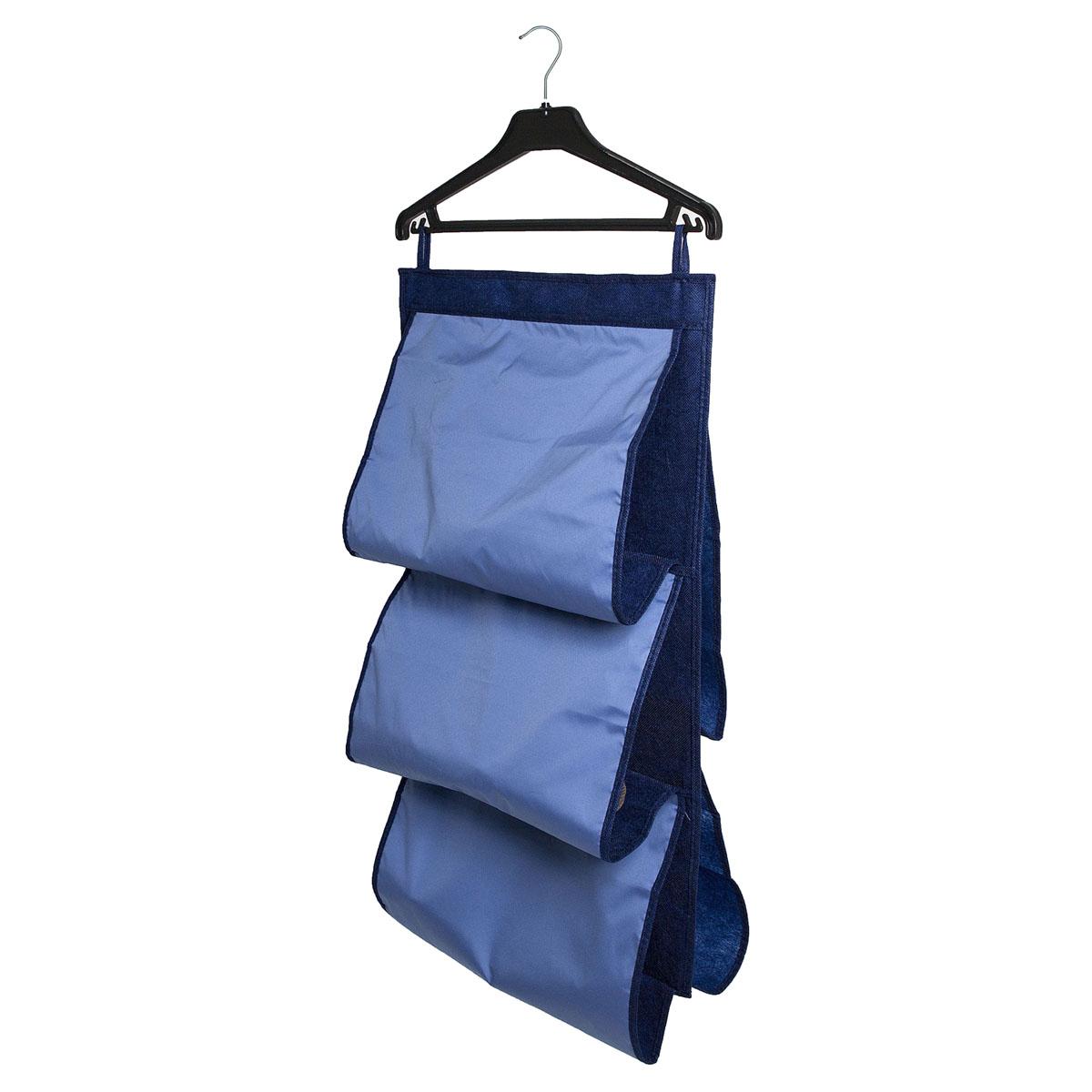 Органайзер для сумок Homsu Bluе Sky, 5 отделений, 40 х 70 смHOM-49Органайзер для хранения сумок Homsu Bluе Sky изготовлен из полиэстера. Изделие имеет 5 отделений, его можно повесить в удобное место за крючки. Такой компактный и удобный в каждодневном использовании аксессуар, как этот органайзер, размещающийся в пространстве шкафа, на плоскости стены или дверей.Практичный и удобный органайзер для хранения сумок.Размер чехла: 40 х 70 см.