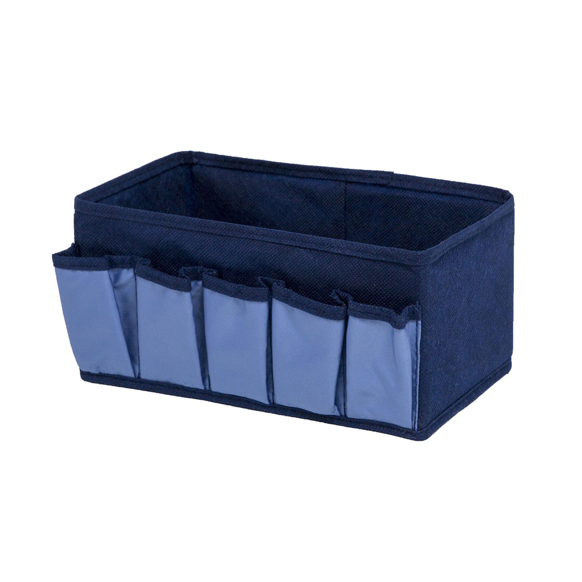 Органайзер для хранения косметики и мелочей Homsu Bluе Sky, 25 х 15 х 12 смTD 0033Органайзер Homsu Bluе Sky выполнен из полиэстера и предназначена для хранения вещей. Изделие защитит вещи от повреждений, пыли, влаги и загрязнений во время хранения и транспортировки. Органайзер идеально подходит для хранения детских вещей и игрушек. Жесткий каркас из плотного толстого картона обеспечивает устойчивость конструкции. Размер: 25 х 15 х 12 см.