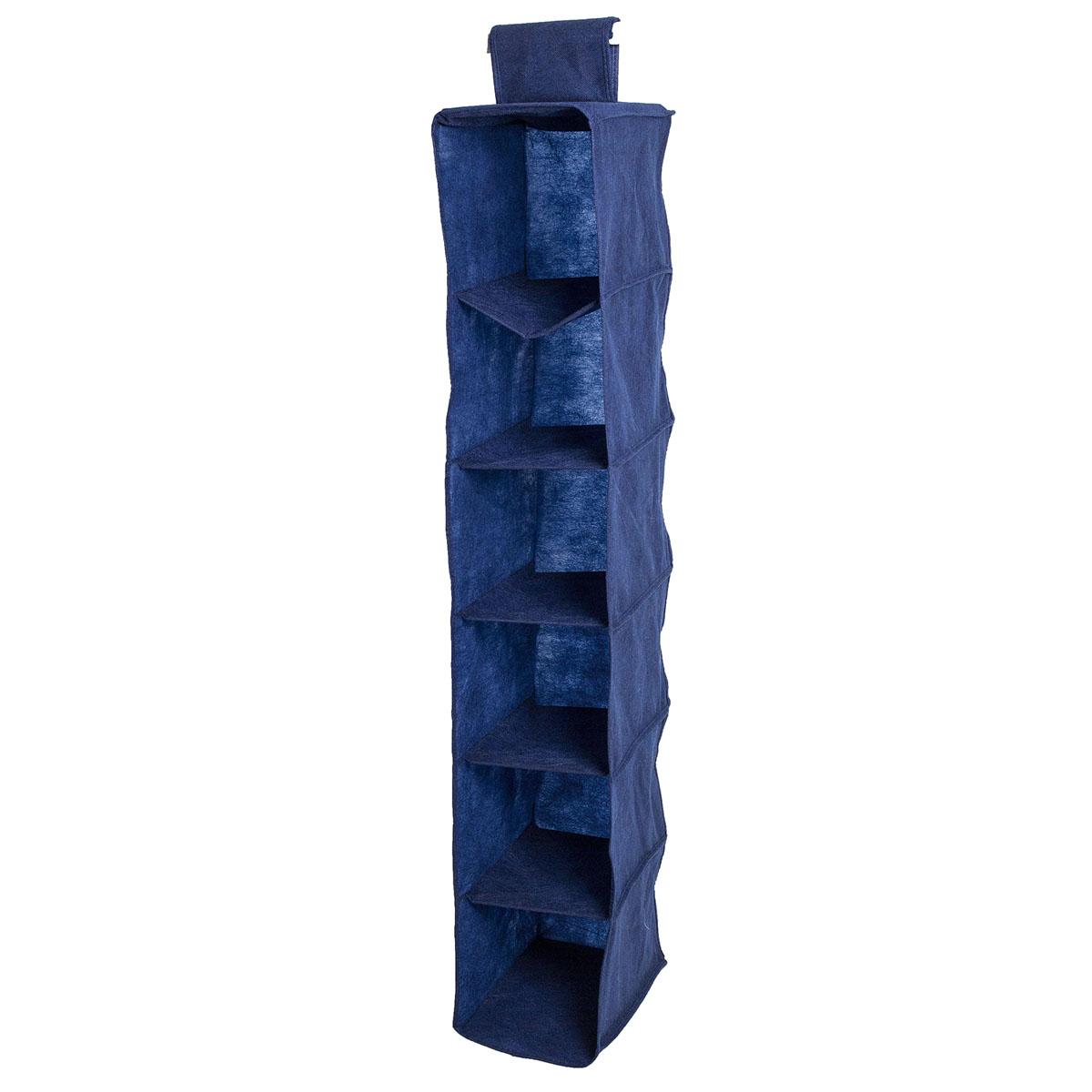 Органайзер подвесной Homsu Bluе Sky, 6 полок, 30 х 20 х 120 смHOM-129Подвесной органайзер Homsu Bluе Sky выполнен из прочного полиэстера - материала, который отличается прочностью, водоотталкивающими свойствами и практичностью. Изделие имеет 6 полок для хранения различных предметов, в том числе одежды, детских игрушек. Органайзер подвешивается к карнизу, рейлингу, стальным трубам и крепежам с помощью специальной петли. Размер полки: 30 х 20 см.