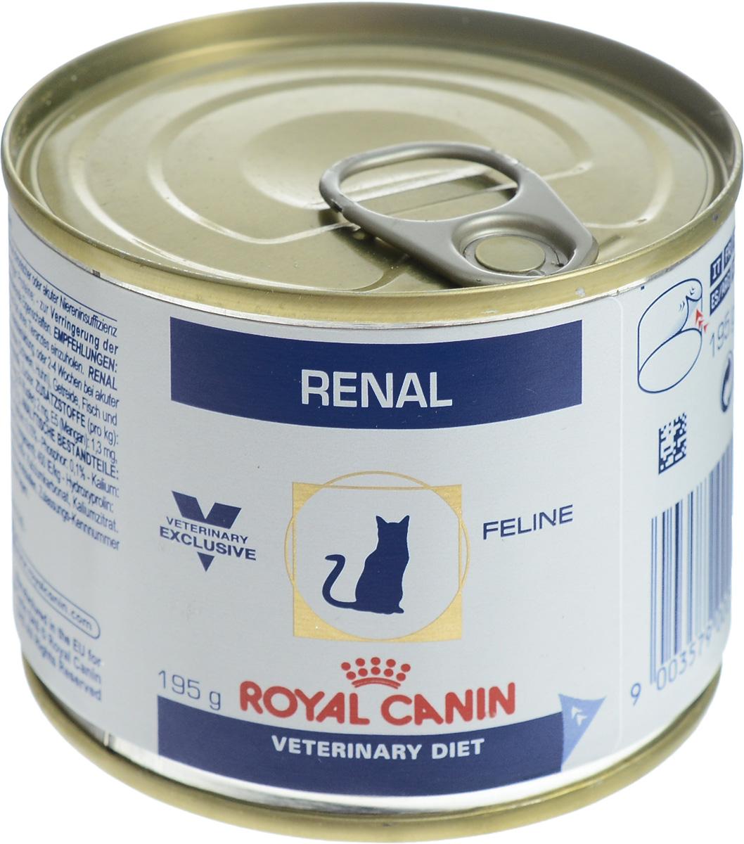 Консервы для кошек Royal Canin Renal, с почечной недостаточностью, с курицей, 195 г0120710Royal Canin Renal - полнорационный диетический корм для кошек. Применяется для поддержания функции почек при острой или хронической почечной недостаточности, благодаря пониженному содержанию фосфора и высококачественного белка. Корм способствует профилактике оксалатного уролитиаза, благодаря низкому содержанию кальция и витамина D и повышенной способности к защелачиванию мочи.Показания:- хроническая почечная недостаточность (ХПН); - профилактика рецидивов образования камней оксалата кальция у кошек с ослабленной функцией почек; - профилактика рецидивов уролитиаза (уратов, цистинов), вызванных снижением уровня рН мочи. Противопоказания:- беременность, лактация, рост.Формула продуктов специально разработана для поддержания почечной функции при ХПН. Продукты отличаются низким содержанием фосфора, содержат комплекс антиоксидантов, жирные кислоты ЕРА и DHA. При ХПН почки теряют способность надлежащим образом выводить фосфор. Низкое содержание фосфора в продукте способствует замедлению развития болезни. При кормлении диетическим кормом с адаптированным содержанием рыбьего жира (источника незаменимых жирных кислот ЕРА и DHA) повышается скорость клубочковой фильтрации. Чрезмерная нагрузка на почки может спровоцировать уремический криз. Высокое качество и адаптированное содержание белков способствуют снижению нагрузки на почки. Если содержание белка в рационе значительно превышает минимальные потребности, при сниженной экскреторной функции почек продукты распада азота накапливаются в биологических жидкостях.ХПН может привести к метаболическому ацидозу, поэтому в состав продуктов входят подщелачивающие вещества. Почки играют важнейшую роль в поддержании кислотно- щелочного баланса. При нарушенной функции почек их способность к выведению ионов водорода и реабсорбции ионов бикарбоната снижена, в связи с чем высок риск метаболического ацидоза.Специально разработанный ароматический профиль п