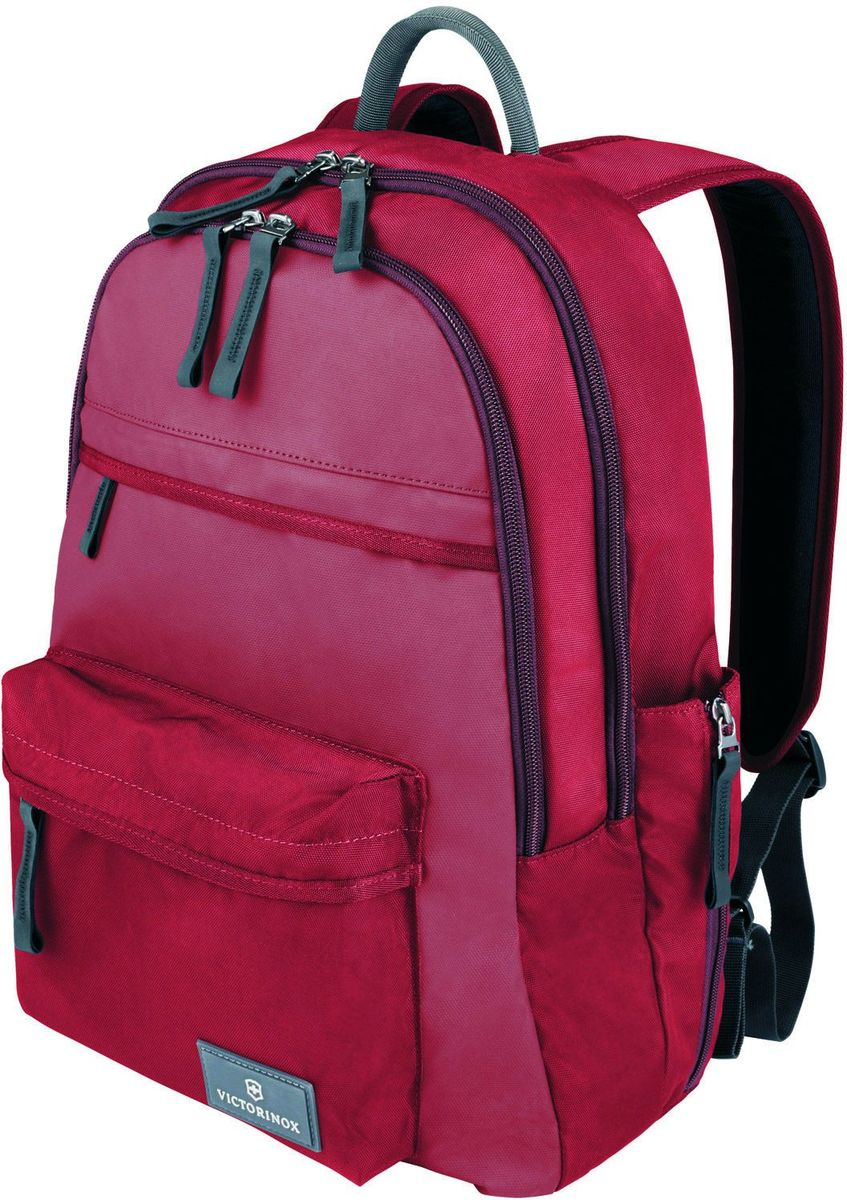 Рюкзак Victorinox Altmont 3.0 Standard Backpack, цвет: красный. 3238840332388403Оригинальный швейцарский армейский нож «Swiss Army» был создан в 1897 году в небольшой деревушке Ибах в Швейцарии.С тех пор продукция,выпускаемая под маркой «Victorinox» с ее узнаваемым логотипом в виде креста на щите,по праву считается эталоном отличного качества,высокой функциональности,инновационных технологий и культового дизайна.Наша преданность принципам в течение последних 130 лет позволила нам создавать продукты,которые являются выдающимися не только по дизайну и качеству,но которые также являются надежными спутниками в больших и маленьких жизненных приключениях.Сегодня мы с гордостью представляем линейку сумок,чемоданов и дорожных аксессуаров,которые наилучшим образом воплощают в себе данные принципы,а также сочетают в себе черты нашего лучшего классического стиля.Индивидуальность-это то,что отличает вас от любого другого человека,с которым вы сталкиваетесь на улице,в поезде,с которым вы общаетесь в городе.Каждый день вашей жизни — это уникальный опыт,который никогда больше не повторится.Коллекция Altmont 3.0 создавалась с расчетом на индивидуальность.Неважно носите ли вы рюкзак,сумку-мессенджер или повседневную сумку — в коллекции Altmont 3.0 есть богатый выбор аксессуаров такой же многогранный,как и ваш индивидуальный стиль.Для вас просто не существуют такой вещи как «обычный день»,и также как и вы,наша коллекция справится с любой ситуацией.Прототип модели прошел целых 30 основательных и строгих испытаний,в ходе которых проводилась симуляция самых экстремальных сценариев и условий внешней среды,возможных в реальной жизни.Жесткий режим проводимых тестов гарантирует точность,прочность и износоустойчивость,т.е. все признаки высокого качества и эксплуатационных характеристик,которые покупатель ожидает от продукции «Victorinox».Далее каждое изделие проходит тщательный контроль сертифицированным техническим специалистом.В результате мы можем безоговорочно отвечать за качество нашей 