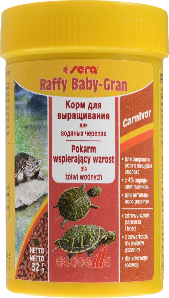 Корм Sera Raffy Baby-Gran, для водяных черепах, в виде гранул, 100 мл (32 г)0120710Sera Raffy Baby-Gran - это комплексный корм для выращивания молодых водяных черепах и других плотоядных рептилий. Благодаря сбалансированному составу, корм восполняет потребности растущих рептилий, не только поддерживая их здоровое развитие при росте - особенно формирование скелета и развитие панциря - но и устойчивость к заболеваниям. Плавающие шарики корма легко поедаются даже самыми мелкими рептилиями.Состав: рыбная мука, кукурузный крахмал, пшеничная клейковина, пшеничная мука, пшеничные зародыши (4%), пивные дрожжи, спирулина, пшеничная клейковина, рыбий жир, криль, зеленые мидии, гаммарус, люцерна, растительное сырье, крапива, петрушка, морские водоросли, паприка, шпинат, морковь, чеснок.Аналитический состав: протеин 35%, жиры 6,7%, клетчатка 4,8%, влажность 5%, зольные вещества 5,7%, кальций 1,8%, фосфор 0,8%.Содержание добавок: витамин A 14400 МЕ/кг, витамин D3 1800 МЕ/кг, витамин Е 180 мг/кг, витамин B1 18 мг/кг, витамин B2 18 мг/кг, витамин C 180 мг/кг.Вес: 32 г (100 мл).Товар сертифицирован.