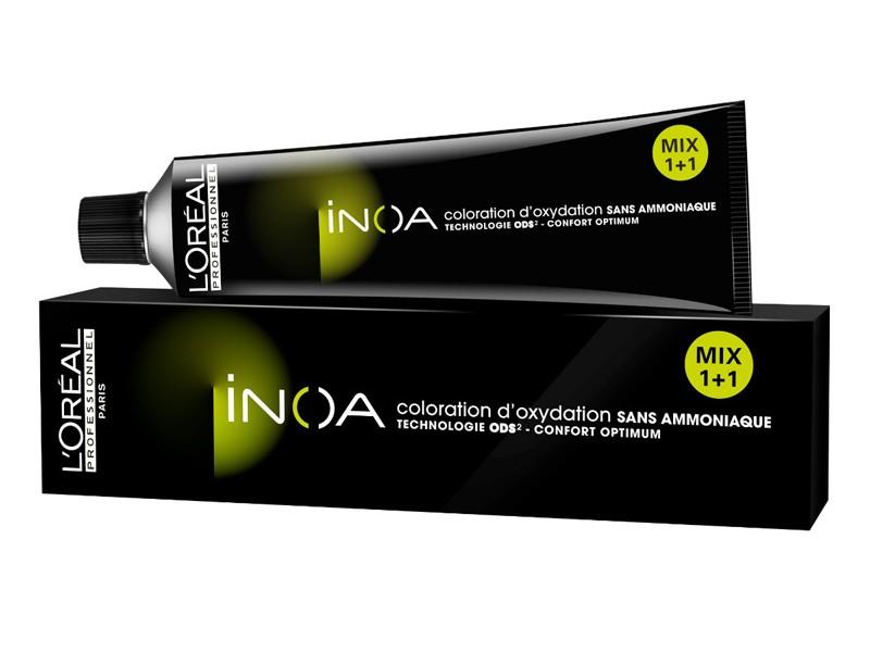 LOreal Professionnel Краска для волос Inoa ODS2, оттенок 9,8, 60 млMP59.4DКраска для волос Inoa ODS2 создана на основе инновационной технологии Oil Delivery System (ODS2 доставка красителя при помощи масла), которая позволяет получить очень стойкие и великолепные яркие, насыщенные цвета. Краситель не содержит аммиака, обеспечивает осветление волос на 3 тона или окрашивание тон в тон, полностью закрашивает седину, абсолютно без повреждения структуры волос. При процессе окрашивания, благодаря уникальной технологии ODS2, краска обогащает специальными активными и защитными элементами структуру каждого волоса, при этом предотвращая потерю цвета и повреждения волос после окончания процедуры.Краситель моментально смешивается с оксидентом, невероятно легко наносится на волосы и не оказывает на кожу головы какого-либо раздражающего или негативного воздействия.Главные достоинства краски для волос INOA это:- Краситель не имеет никакого запаха, не содержит аммиака, не повреждает структуру.- Покрывает седину на 100%. - Позволяет использовать пропорцию смешивания МИКС 1+1.- Придает волосам на 50% больше блеска.