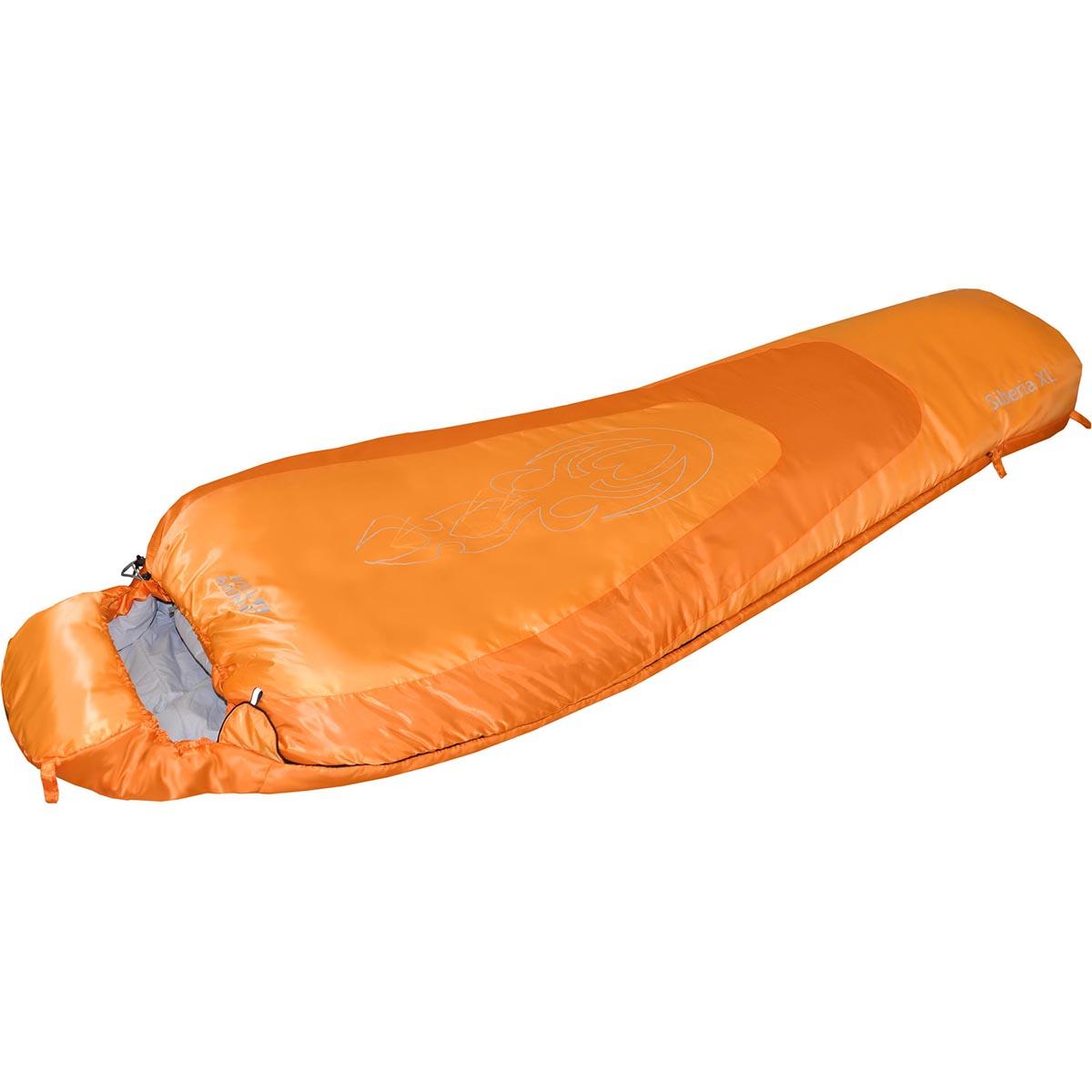Спальный мешок Nova Tour Сибирь -20 XL V2, цвет: оранжевый, правосторонняя молния67742Зимний спальный мешок Nova Tour Сибирь -20 XL V2 имеет конструкцию кокон. Оснащен утепленным утягивающимся капюшоном и удобным шейным воротником. Двухзамковая молния позволяет состегнуть два спальных мешка левого и правого исполнения в один двойной. Особенности:Шейный утепляющий воротник.Планка утепляющая молнию.Разъемная двухзамковая молния.Состегивающаяся молния.Компрессионный мешок в комплекте.Длина: 230 см.