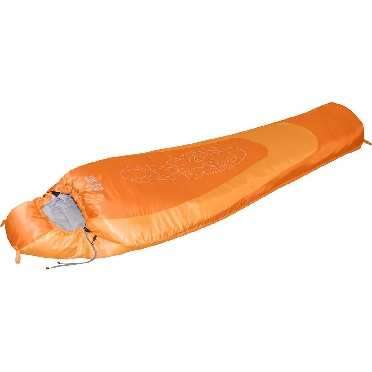 Спальный мешок Nova Tour Сибирь -20 V2, цвет: оранжевый, правосторонняя молния010-01199-23Зимний спальный мешок Nova Tour Сибирь -20 V2 имеет конструкцию кокон. Оснащен утепленным утягивающимся капюшоном и удобным шейным воротником. Двухзамковая молния позволяет состегнуть два спальных мешка левого и правого исполнения в один двойной. Особенности:Шейный утепляющий воротник.Планка утепляющая молнию.Разъемная двухзамковая молния.Состегивающаяся молния.Компрессионный мешок в комплекте.