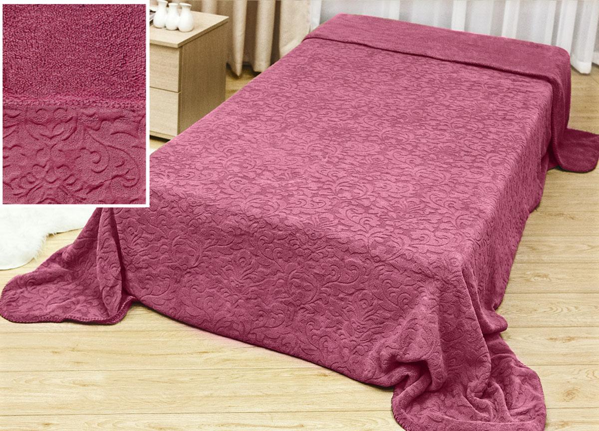 Плед Аbsolute Lux, тесненый на меху, цвет: розовый, 180 х 230 см. 611441004900000360плотность 445 гр/м2