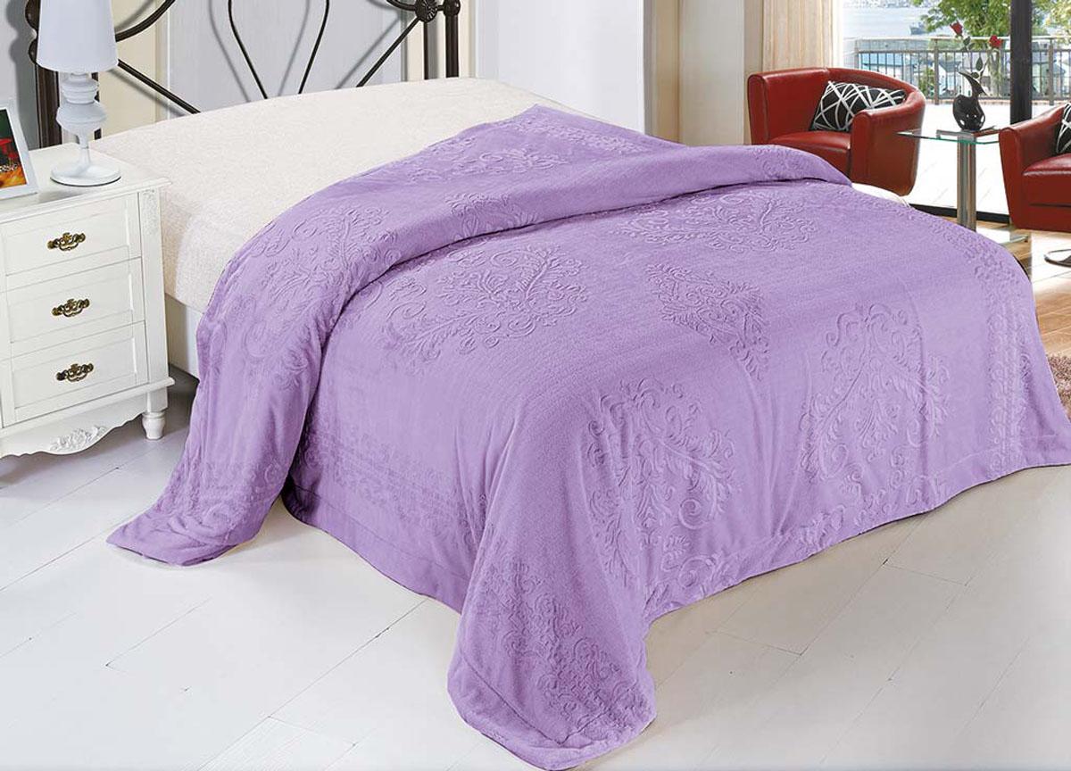Плед Ameli, стриженый, цвет: фиолетовый, 220 х 240 см. 71797S03301004плотность 530 гр/м2
