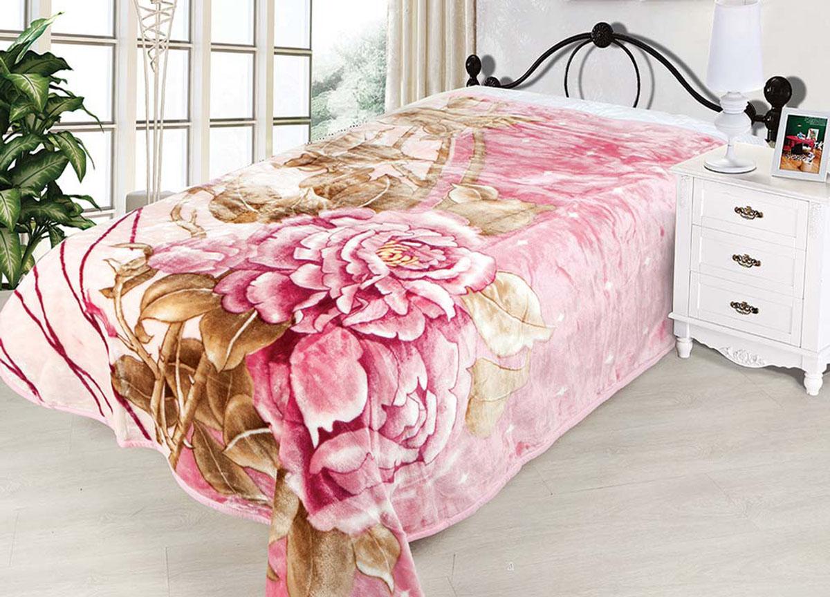 Плед Tamerlan, стриженый, цвет: розовый, коричневый, 160 х 220 см. 74494391602плотность 600 гр/м2