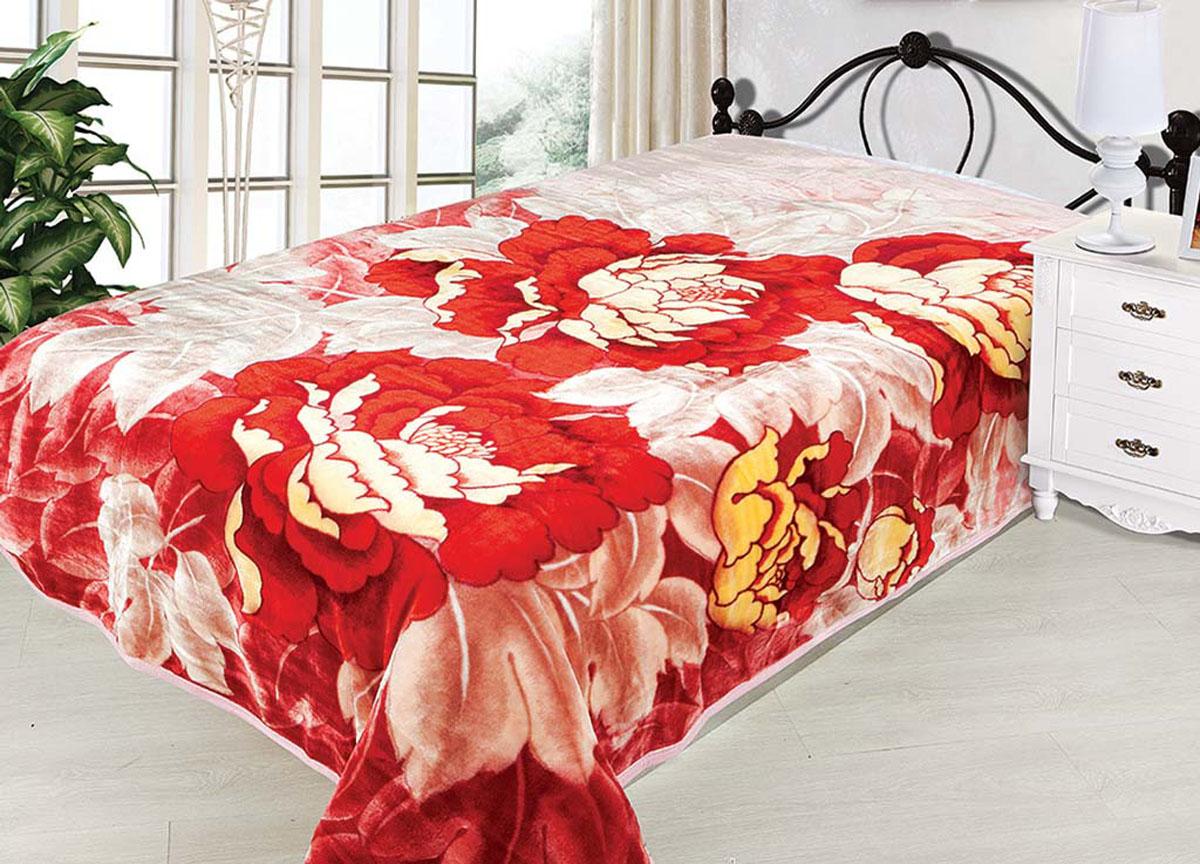 Плед Tamerlan, стриженый, цвет: розовый, красный, 160 х 220 см. 74511U210DFплотность 600 гр/м2