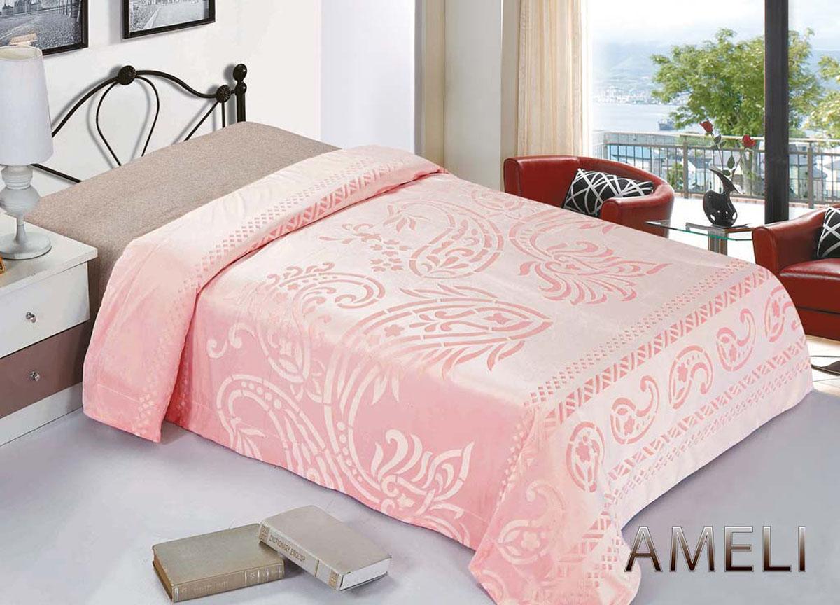Плед ТД Текстиль Ameli, стриженый, цвет: розовый, 220 х 240 см. 7612274372Плед Ameli - это идеальное решение для вашего интерьера! Он порадует вас легкостью, нежностью и оригинальным дизайном! Плед выполнен из 100% полиэстера со стриженым ворсом и оформлен орнаментом. Полиэстер считается одной из самых популярных тканей. Это материал синтетического происхождения из полиэфирных волокон. Внешне такая ткань схожа с шерстью, а по свойствам близка к хлопку. Изделия из полиэстера не мнутся и легко стираются. После стирки очень быстро высыхают.Плед - это такой подарок, который будет всегда актуален, особенно для ваших родных и близких, ведь вы дарите им частичку своего тепла!Плотность: 380 гр/м2.