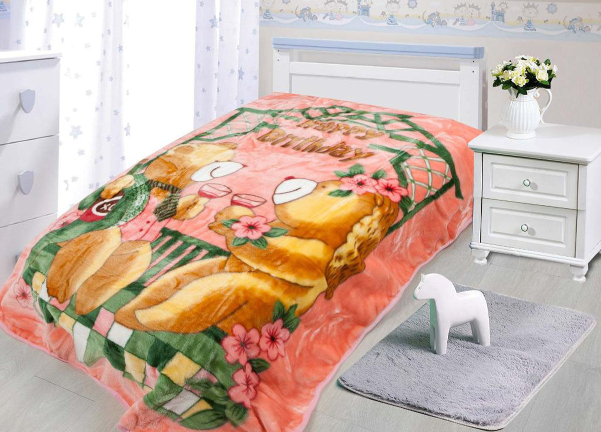 Плед Tamerlan, нестриженый, цвет: розовый, 110 х 140 см. 78137531-105плотность 550 гр/м2