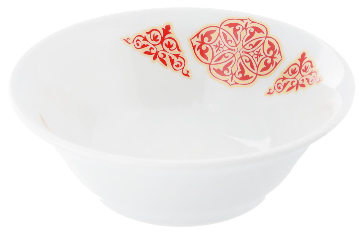 Салатник Идиллия. Восточный, 360 мл115510Великолепный круглый салатник Идиллия. Восточный, изготовленный из высококачественного фарфора, прекрасно подойдет для подачи различных блюд: закусок, салатов или ягод. Такой салатник украсит ваш праздничный или обеденный стол, а оригинальное исполнение понравится любой хозяйке.