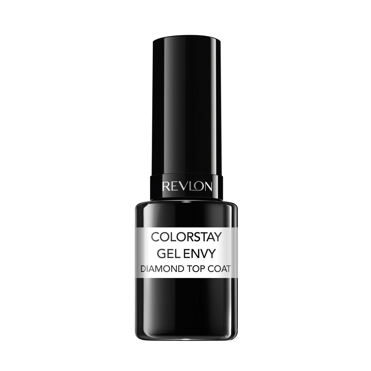 Revlon Верхнее Покрытие для Ногтей Закрепляющее Colorstay Gel Envy Top coat 010, 11,7 мл7220861000Верхнее покрытие Colorstay Gel Envy Top Coat идеально дополняет лаки ColorStay Gel Envy™ Longwear Nail Enamel, обеспечивая устойчивость и бриллиантовый блеск.Аккуратно нанести в один слой после нанесения гель-лака ColorStay Gel Envy