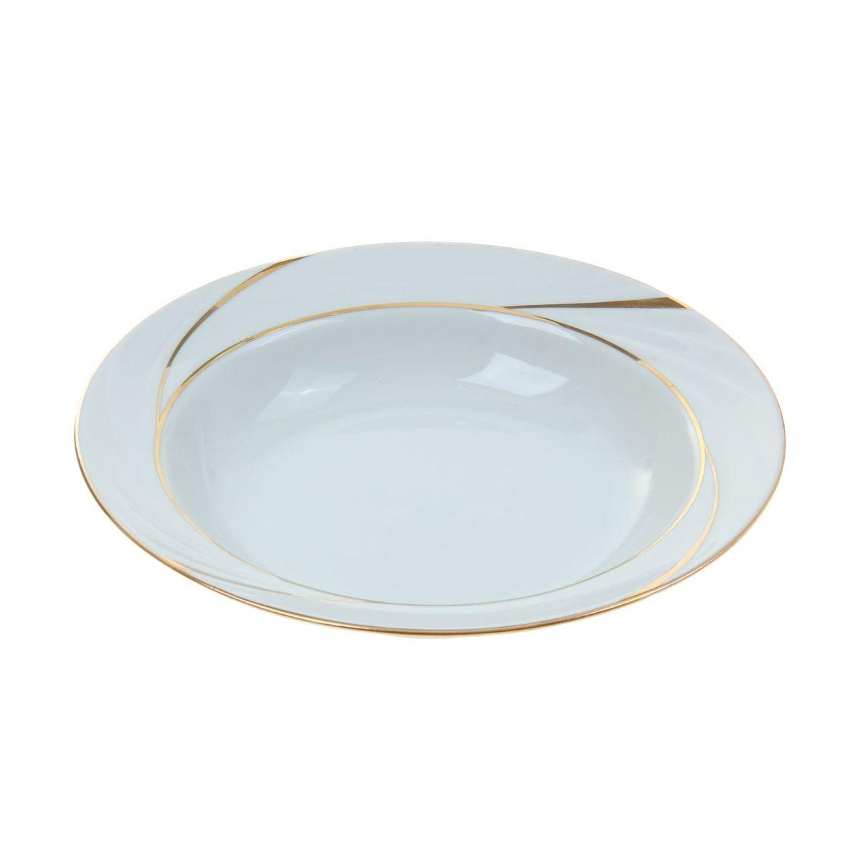 Тарелка глубокая Голубка. Бомонд, диаметр 22 см54 009312Глубокая тарелка Голубка. Бомонд выполнена из высококачественного фарфора. Она прекрасно впишется в интерьер вашей кухни и станет достойным дополнением к кухонному инвентарю. Тарелка Голубка. Бомонд подчеркнет прекрасный вкус хозяйки и станет отличным подарком.