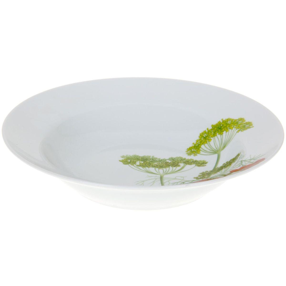 Тарелка глубокая Идиллия. Садочек, диаметр 24 см54 009312Глубокая тарелка Идиллия. Садочек выполнена из высококачественного фарфора и украшена ярким рисунком. Она прекрасно впишется в интерьер вашей кухни и станет достойным дополнением к кухонному инвентарю. Тарелка Идиллия. Садочек подчеркнет прекрасный вкус хозяйки и станет отличным подарком.