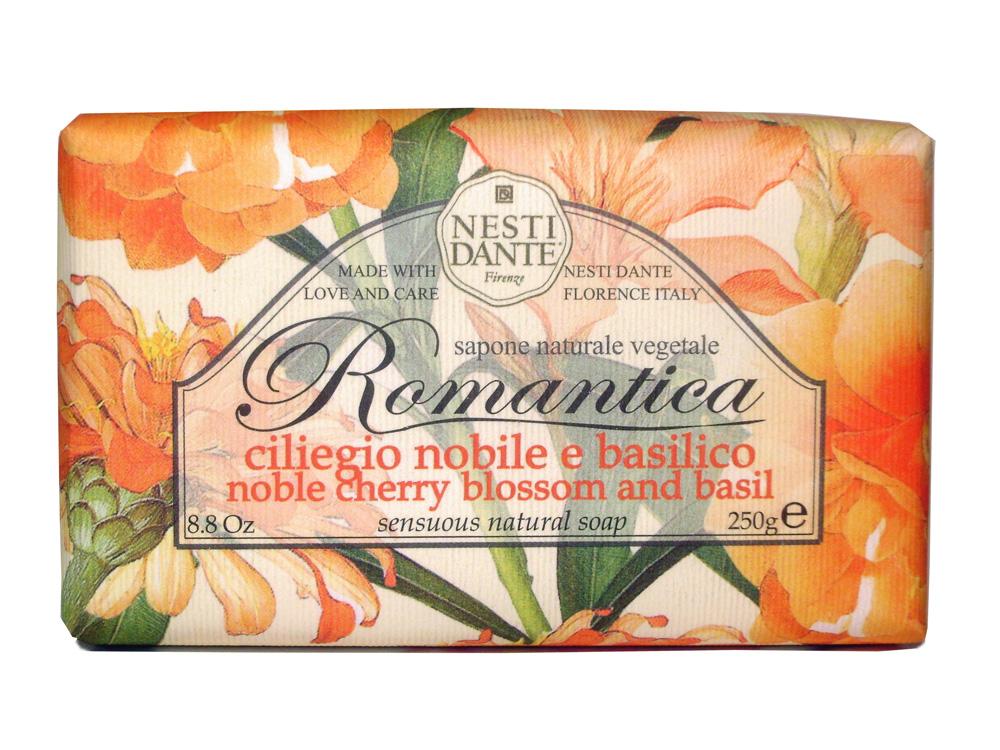Мыло Nesti Dante Romantica. Вишневый цвет и базилик, 250 гSatin Hair 7 BR730MNНатуральное мыло премиум-класса Nesti Dante Romantica. Вишневый цвет и базилик - два букета, бережно отобранные самые романтичные и эмоциональные ароматы, самые незабываемые моменты нашей жизни в магии цветов провинции Тоскана. Вишневые лепестки и пряно-сладкий свежий аромат базилика напомнят благоухание цветущего весеннего сада. Изысканная флорентийская бумага, в которую завернуто мыло, расписана акварелью, на каждом кусочке мыла выгравирована надпись With Love And Care (С любовю и заботой). Характеристики:Вес: 250 г. Производитель: Италия. Товар сертифицирован.Nesti Dante - одна из немногих итальянских мыловаренных фабрик, которая продолжает использовать в производстве только натуральные ингредиенты и кустарный способ производства. Тщательный выбор каждого ингредиента в отдельности позволяет использовать ценное сырье, такое как цельные нейтральные растительные и животные жиры и эти качественные материалы позволяют получать более обогащенное и более мягкое мыло благодаря присутствию фракции глицерида в жирах.