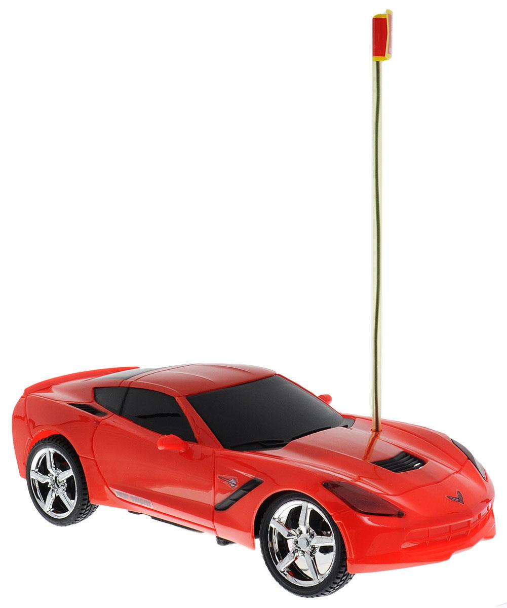 """Культовый американский автомобиль Corvette Stingray привлечет внимание как ребенка, так и взрослого и понравится любому, кто увлекается автомобилями. Маневренная и реалистичная уменьшенная копия New Bright """"Corvette Stingray"""" выполнена в точной детализации с настоящим автомобилем в масштабе 1:24. Управление машинкой происходит с помощью пульта. Машинка двигается вперед и назад, поворачивает направо и налево. Колеса игрушки прорезинены и обеспечивают плавный ход, машинка не портит напольное покрытие. Радиоуправляемые игрушки способствуют развитию координации движений, моторики и ловкости. Ваш ребенок часами будет играть с моделью, придумывая различные истории и устраивая соревнования. Порадуйте его таким замечательным подарком! Для работы игрушки необходимы 3 батарейки типа АА (не входят в комплект). Для работы пульта управления необходимы 2 батарейки типа АА (не входят в комплект)."""
